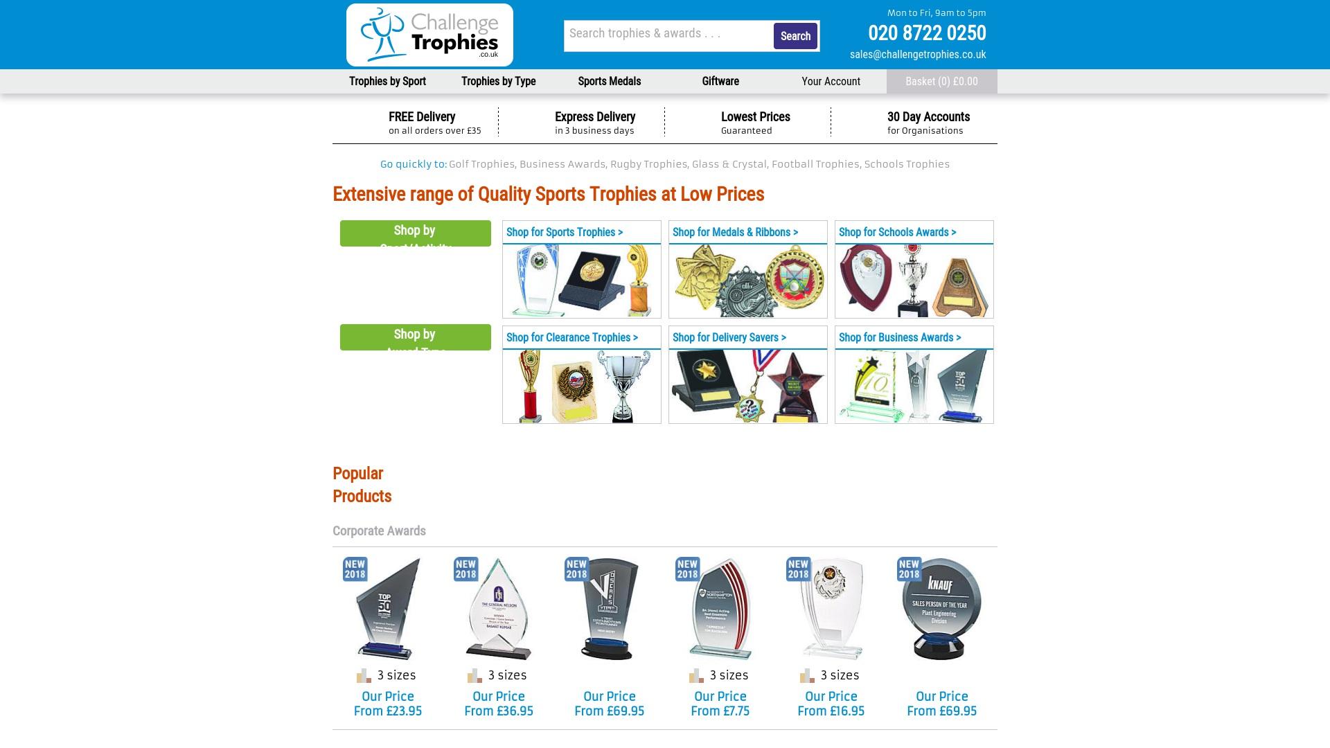 Gutschein für Challengetrophies: Rabatte für  Challengetrophies sichern