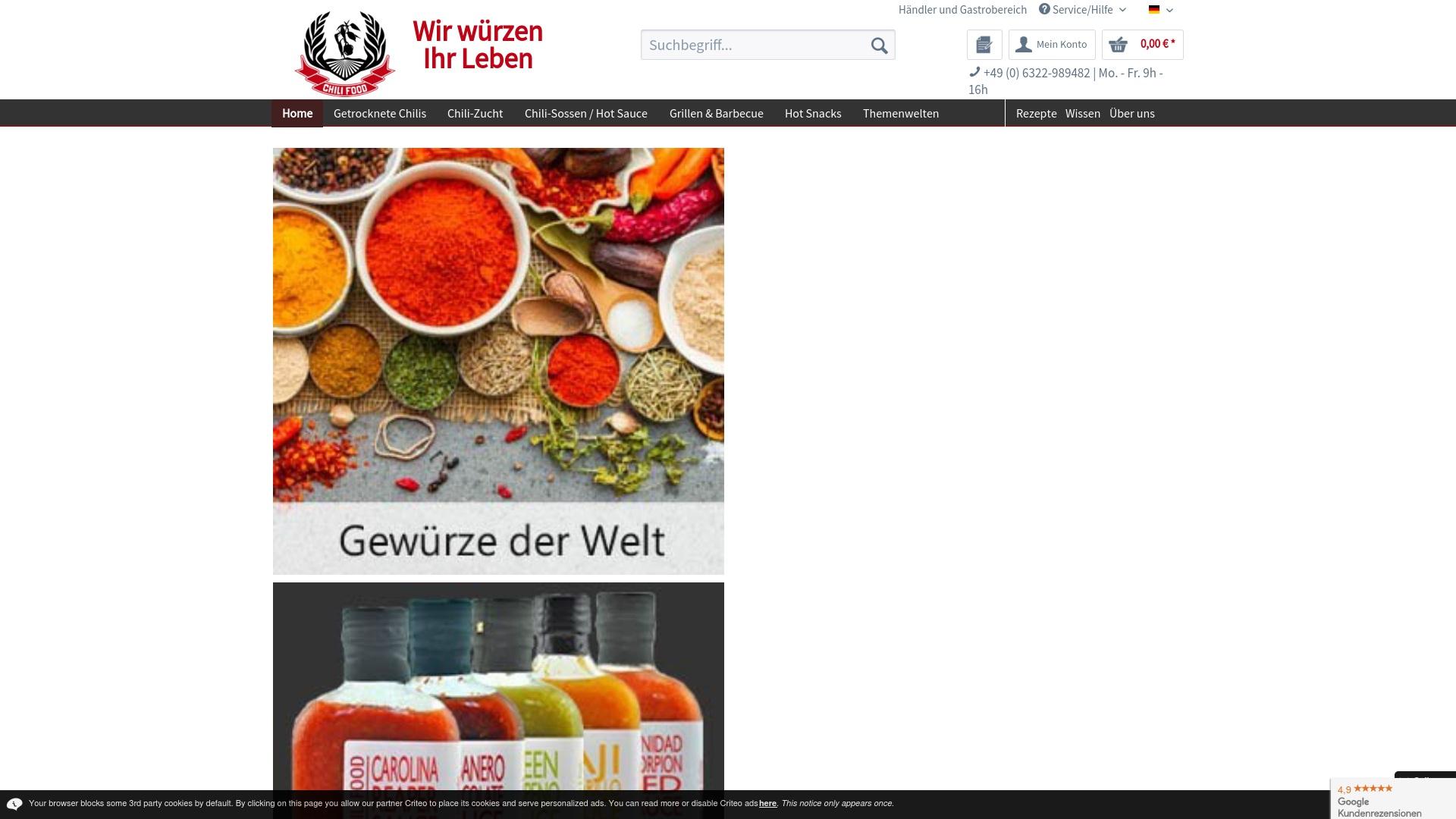 Gutschein für Chili-shop24: Rabatte für  Chili-shop24 sichern