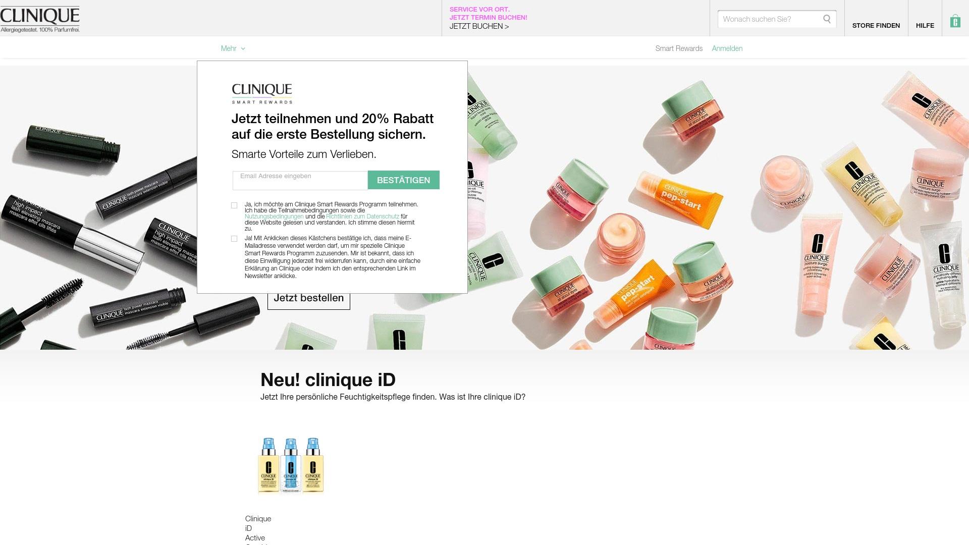 Gutschein für Clinique: Rabatte für  Clinique sichern