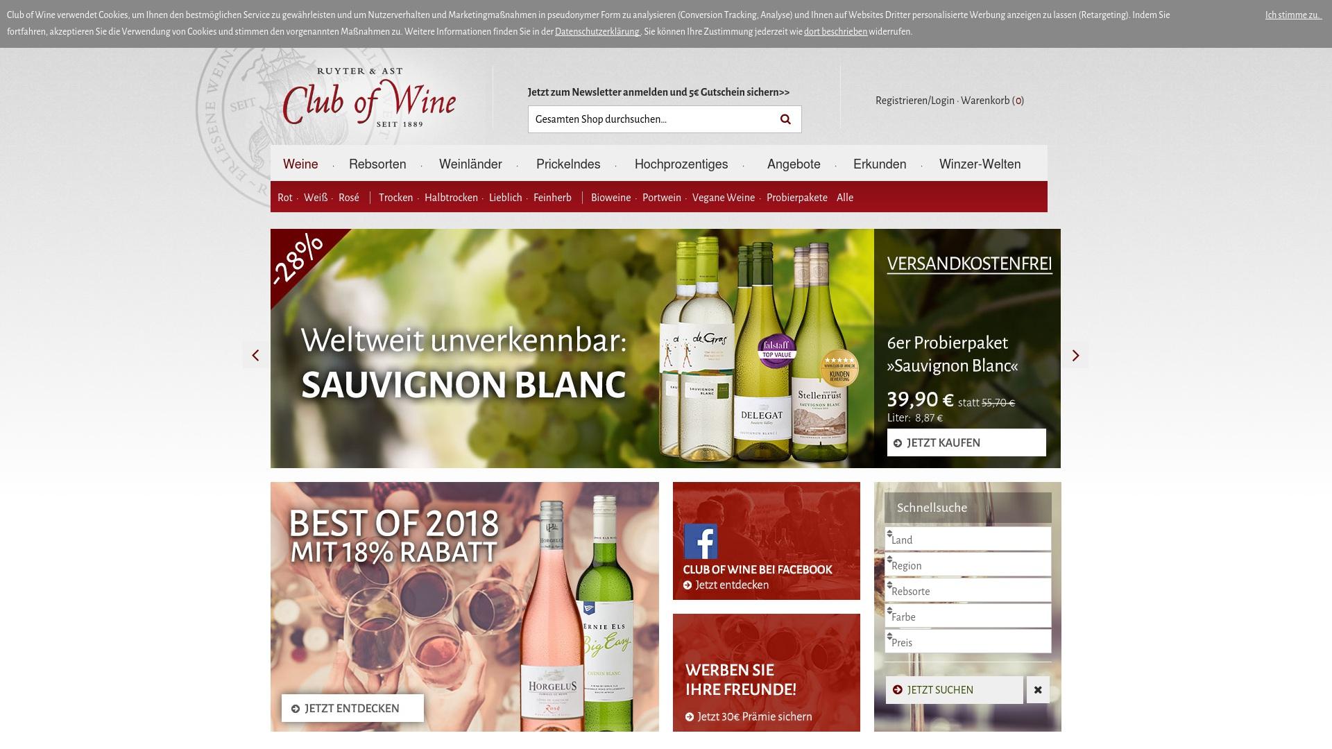 Gutschein für Club-of-wine: Rabatte für  Club-of-wine sichern