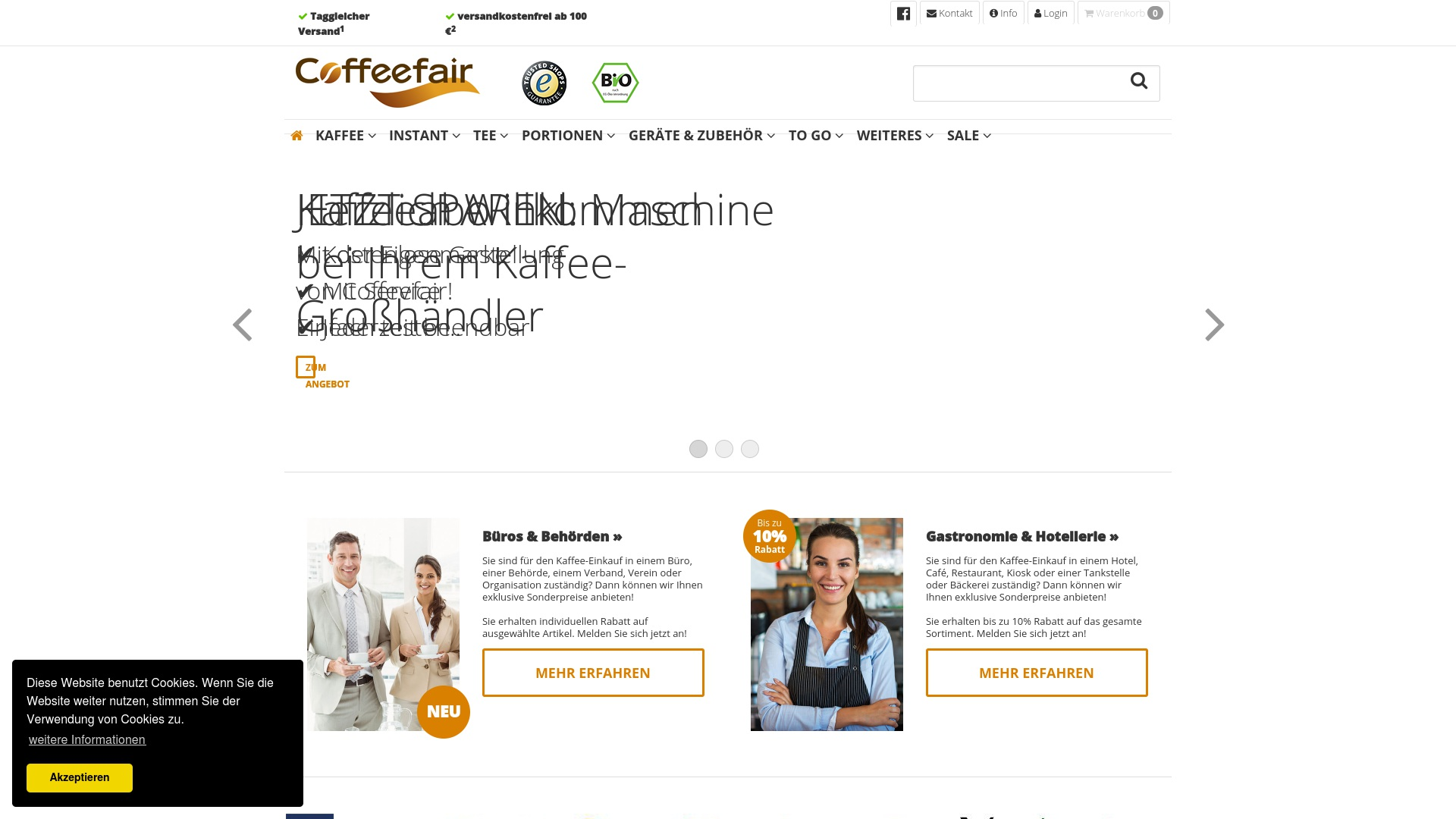 Gutschein für Coffeefair: Rabatte für  Coffeefair sichern