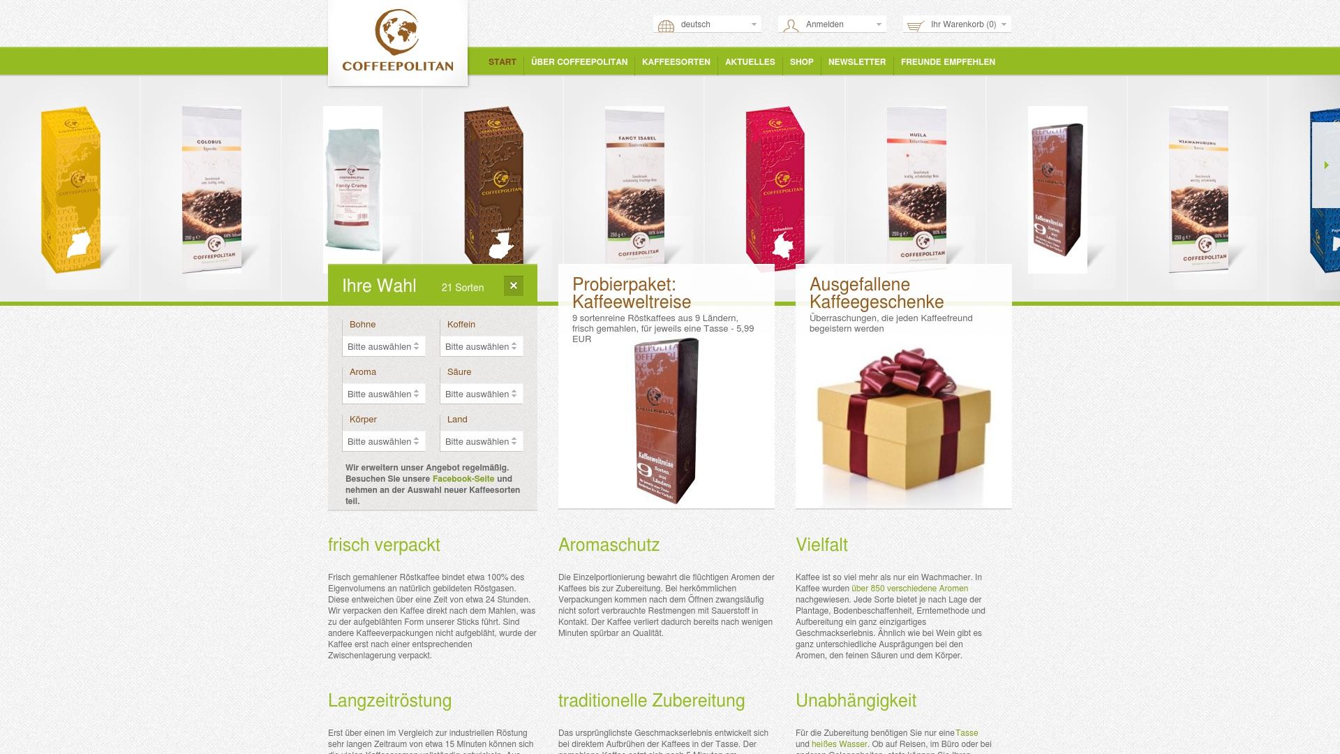Gutschein für Coffeepolitan: Rabatte für  Coffeepolitan sichern
