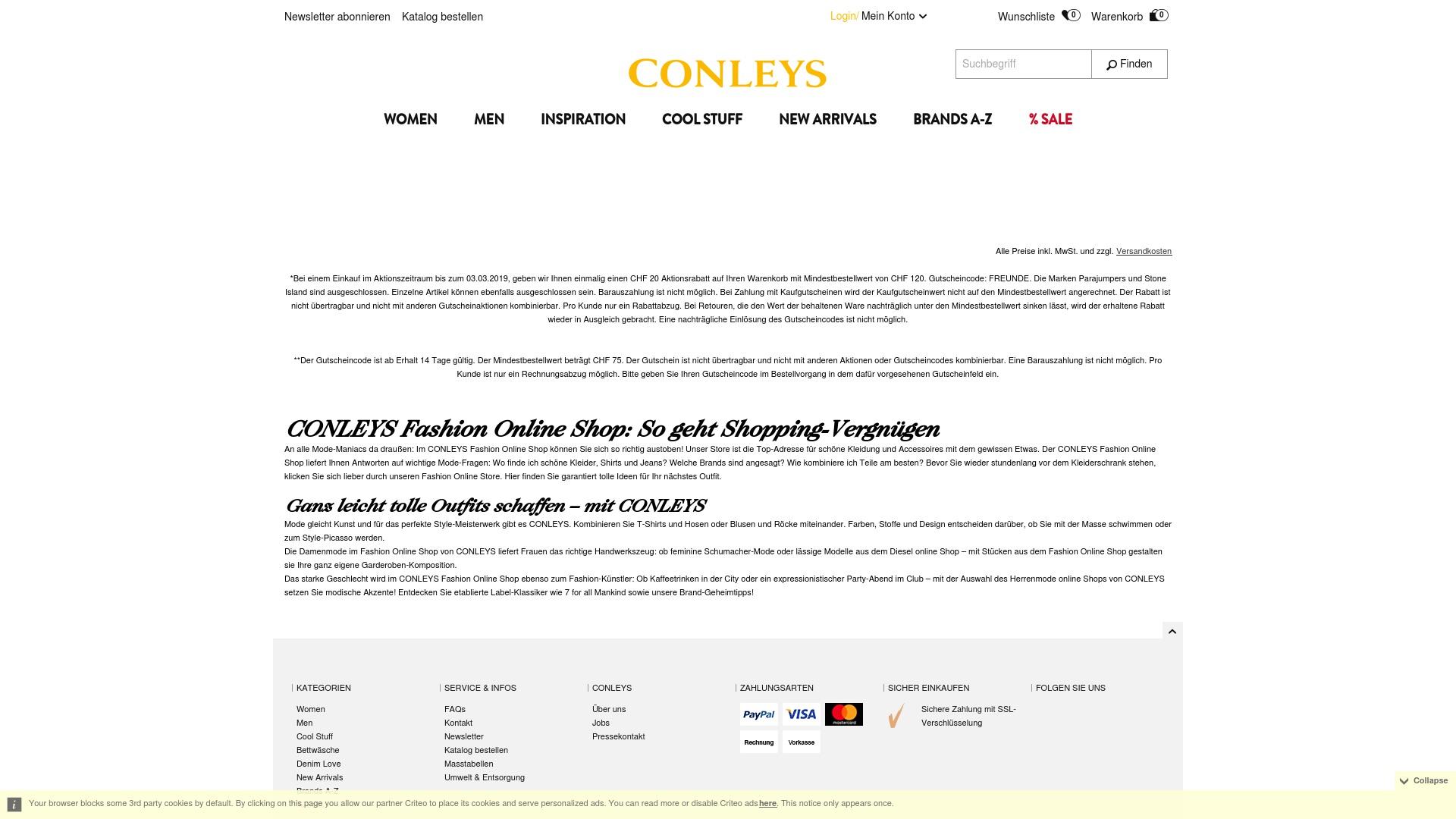 Gutschein für Conleys: Rabatte für Conleys sichern