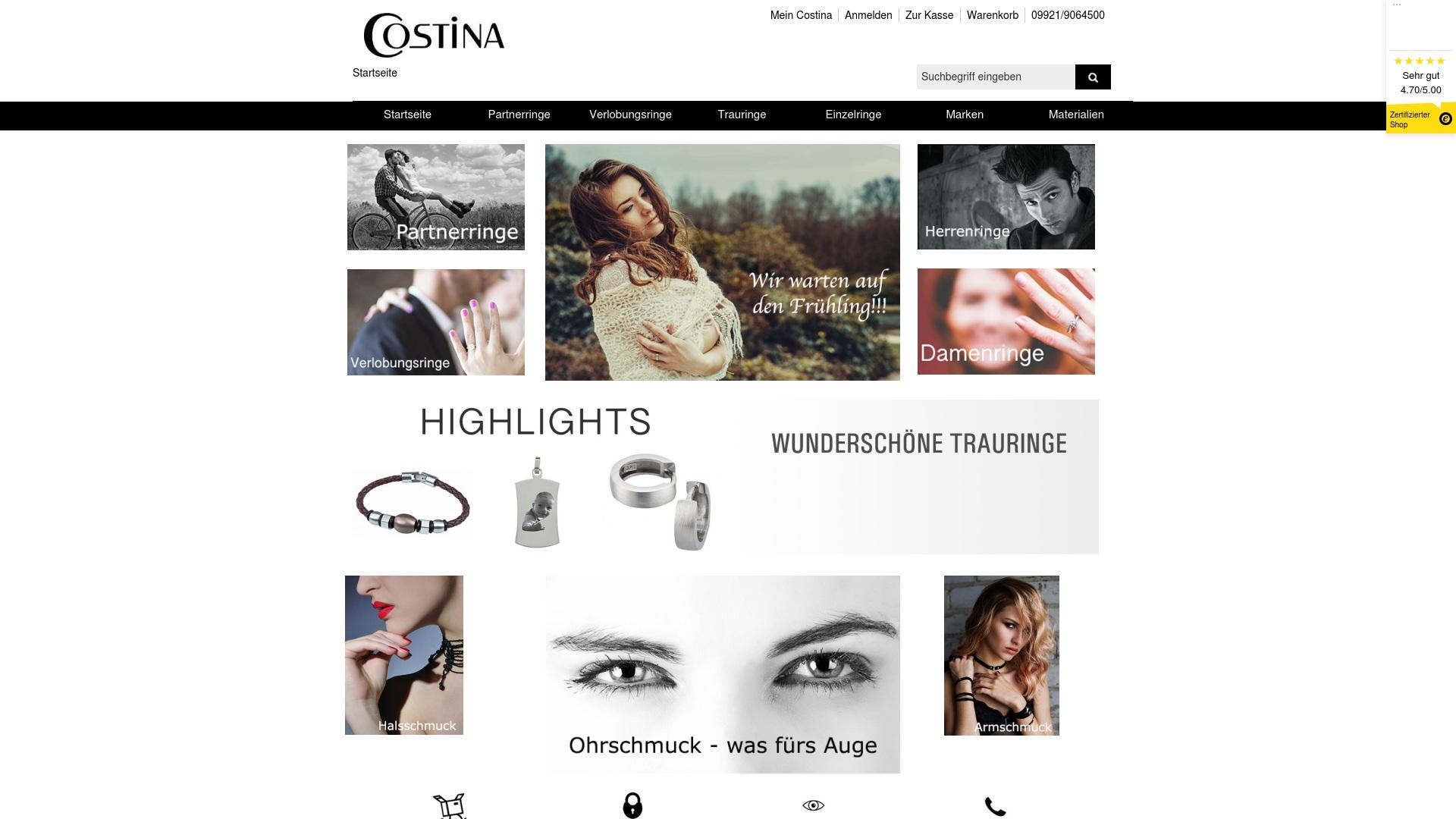 Gutschein für Costina-schmuck: Rabatte für  Costina-schmuck sichern