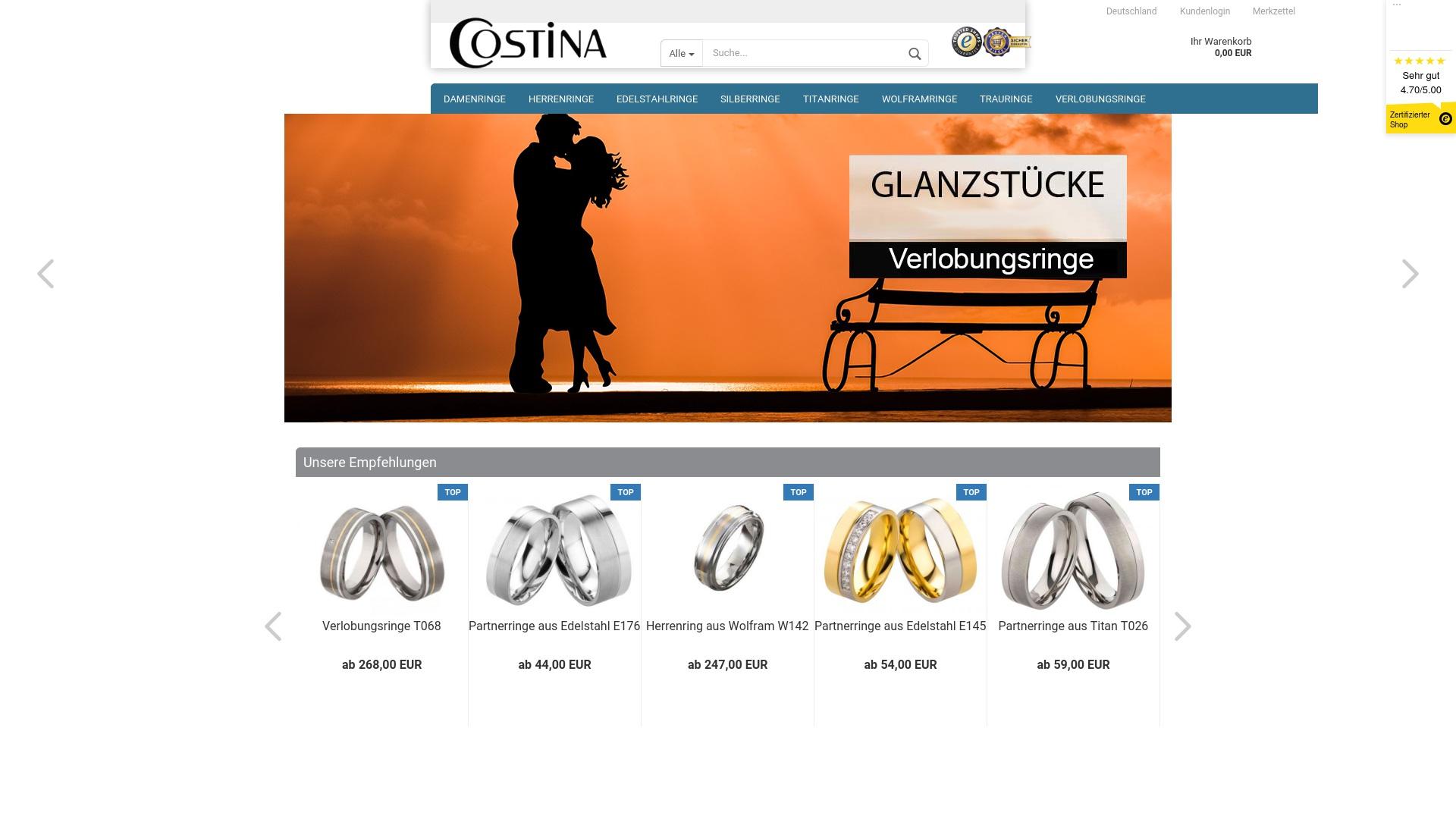 Gutschein für Costina-shop: Rabatte für  Costina-shop sichern