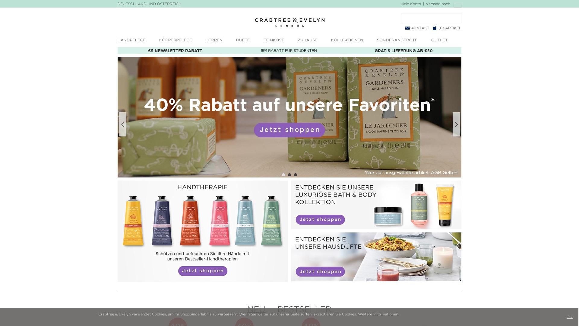 Gutschein für Crabtree-evelyn: Rabatte für  Crabtree-evelyn sichern