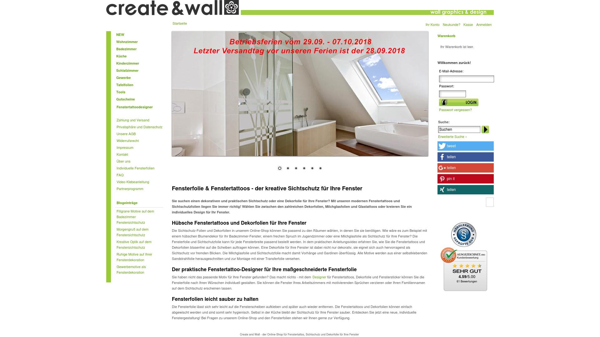 Gutschein für Create-and-wall: Rabatte für  Create-and-wall sichern