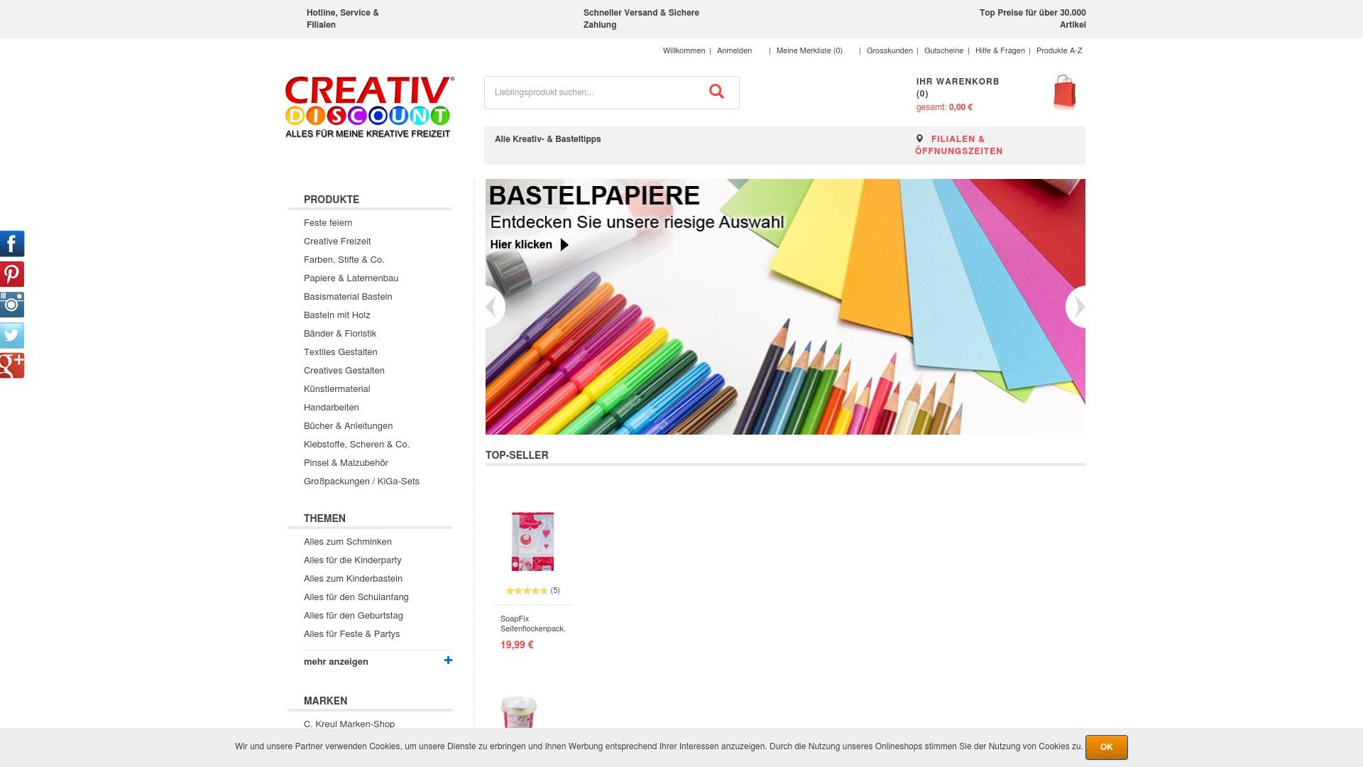 Gutschein für Creativ-discount: Rabatte für  Creativ-discount sichern