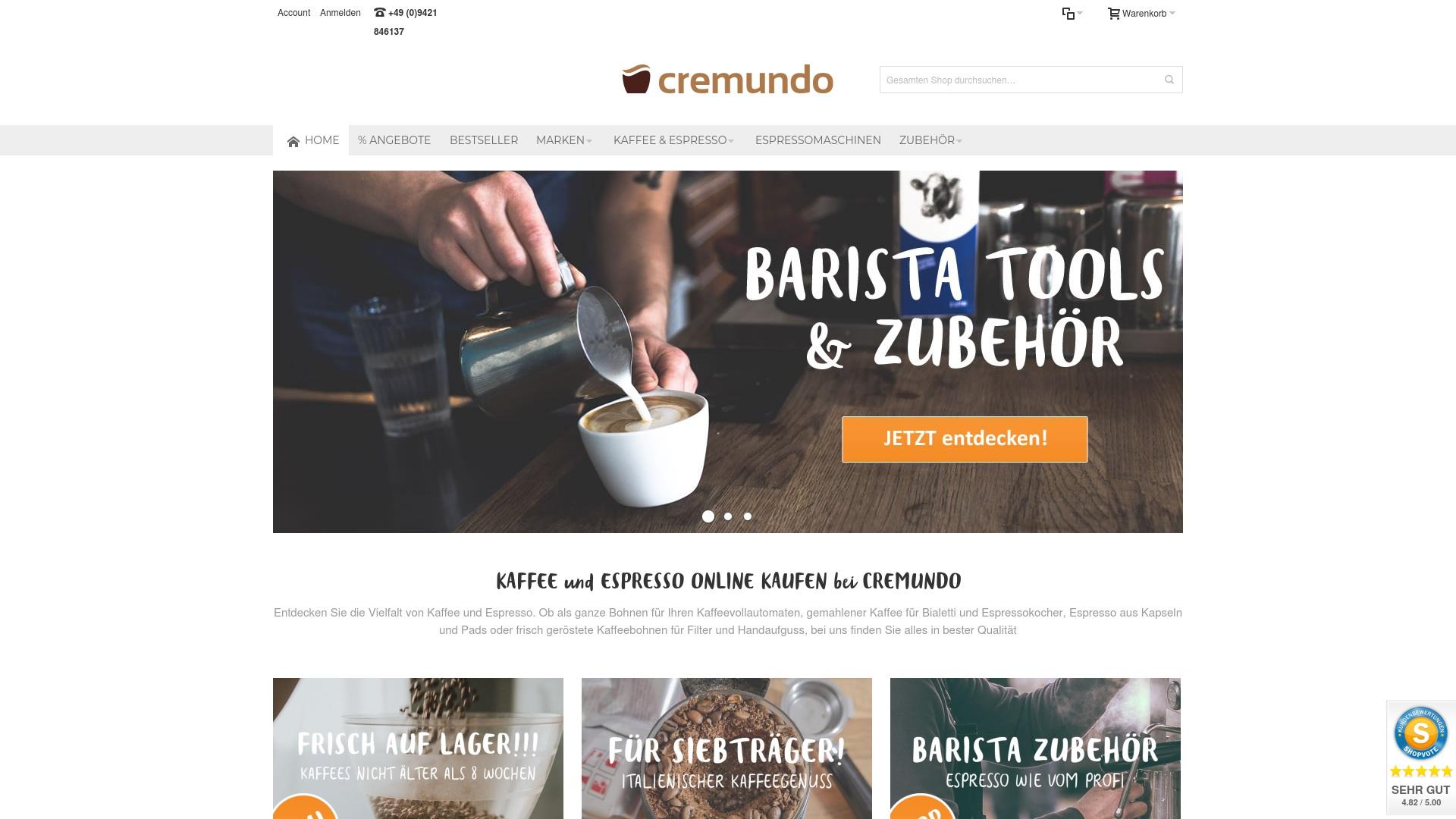 Gutschein für Cremundo: Rabatte für  Cremundo sichern