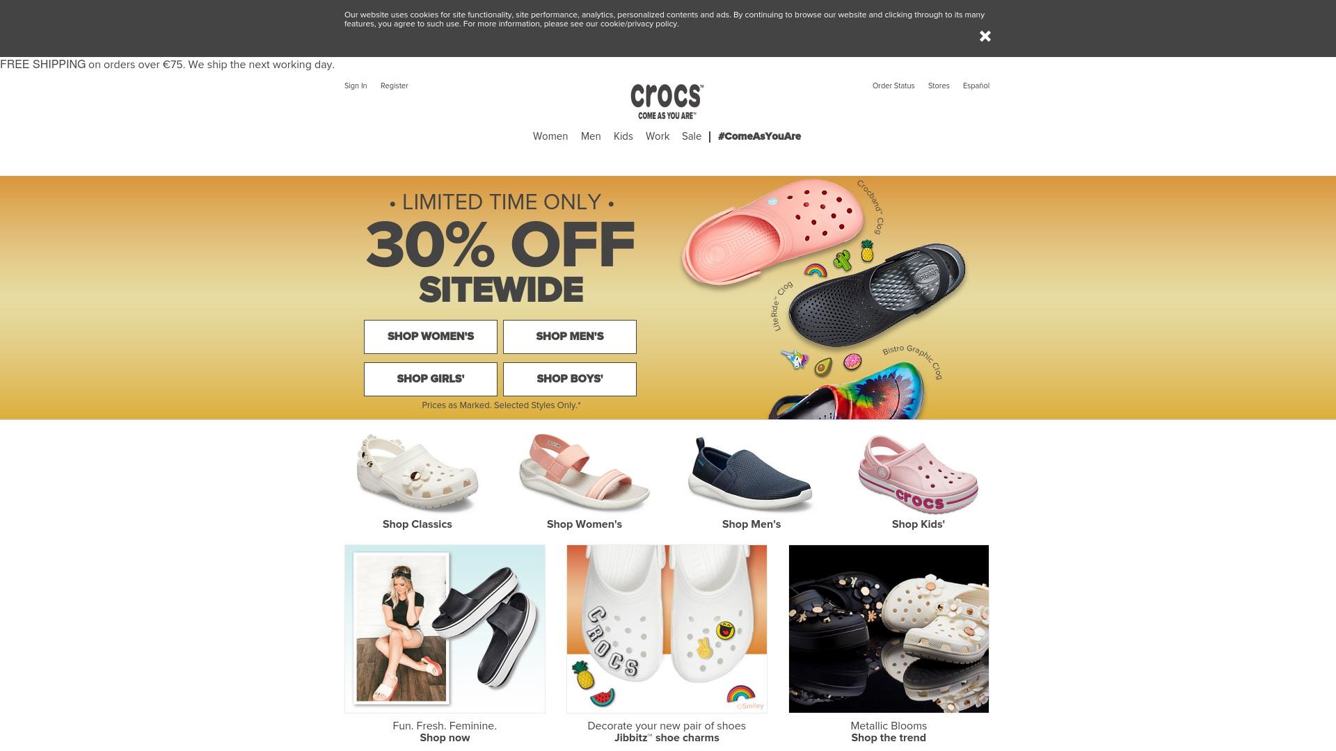 Gutschein für Crocs: Rabatte für  Crocs sichern