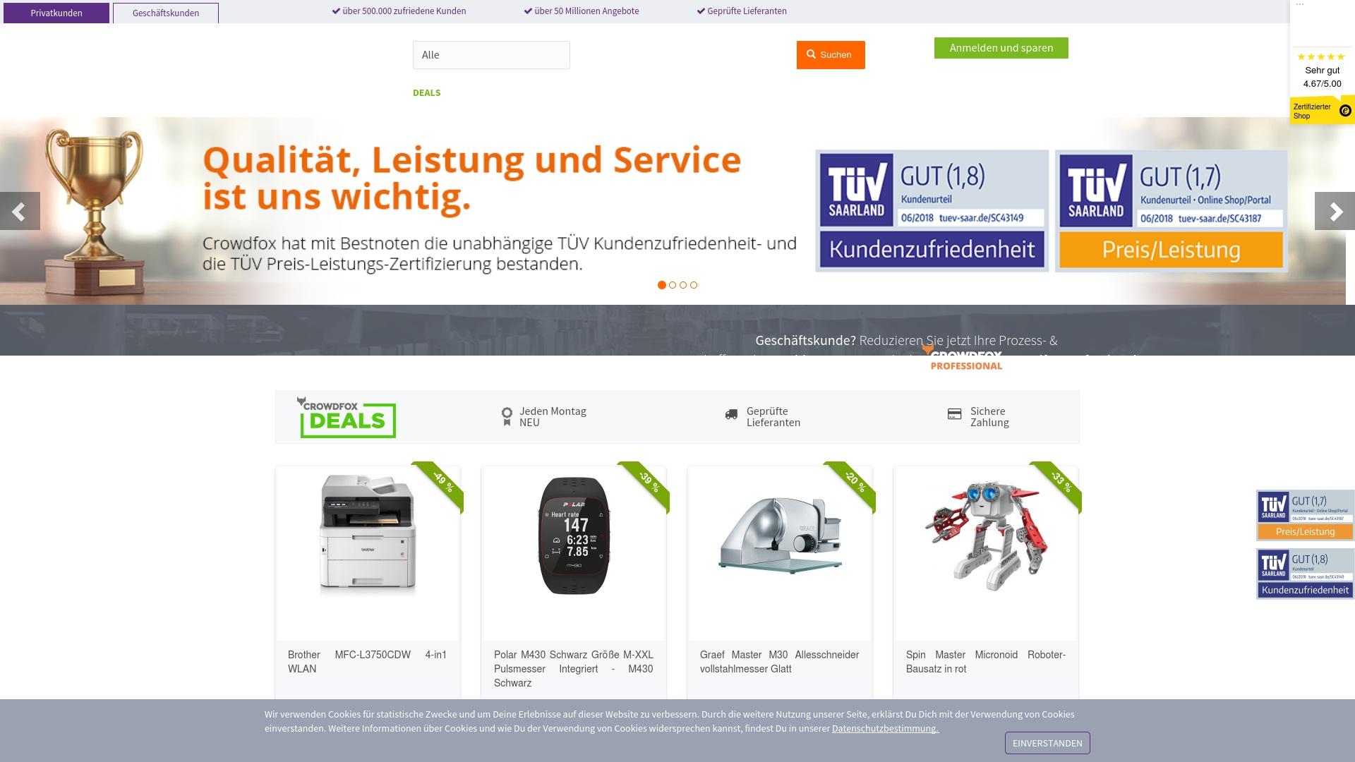 Gutschein für Crowdfox: Rabatte für  Crowdfox sichern