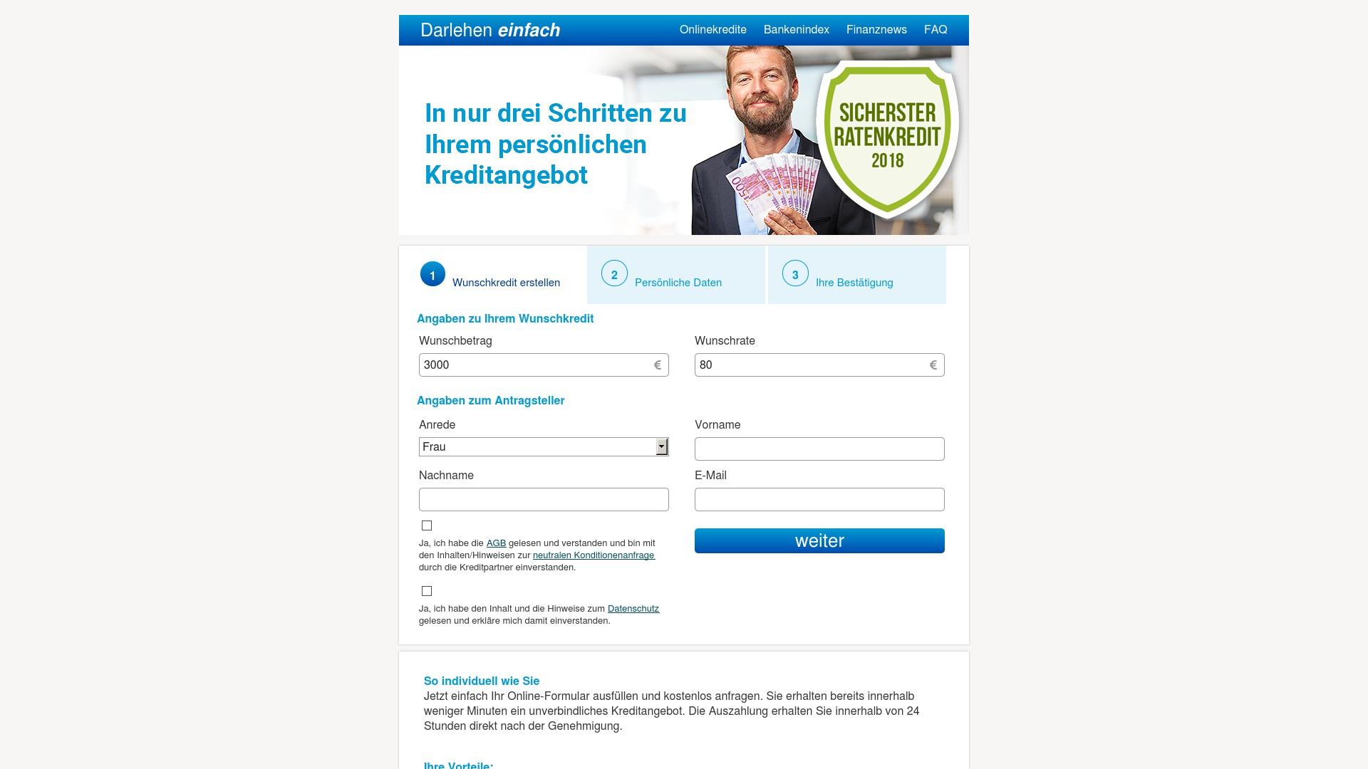 Gutschein für Darlehen-einfach: Rabatte für  Darlehen-einfach sichern