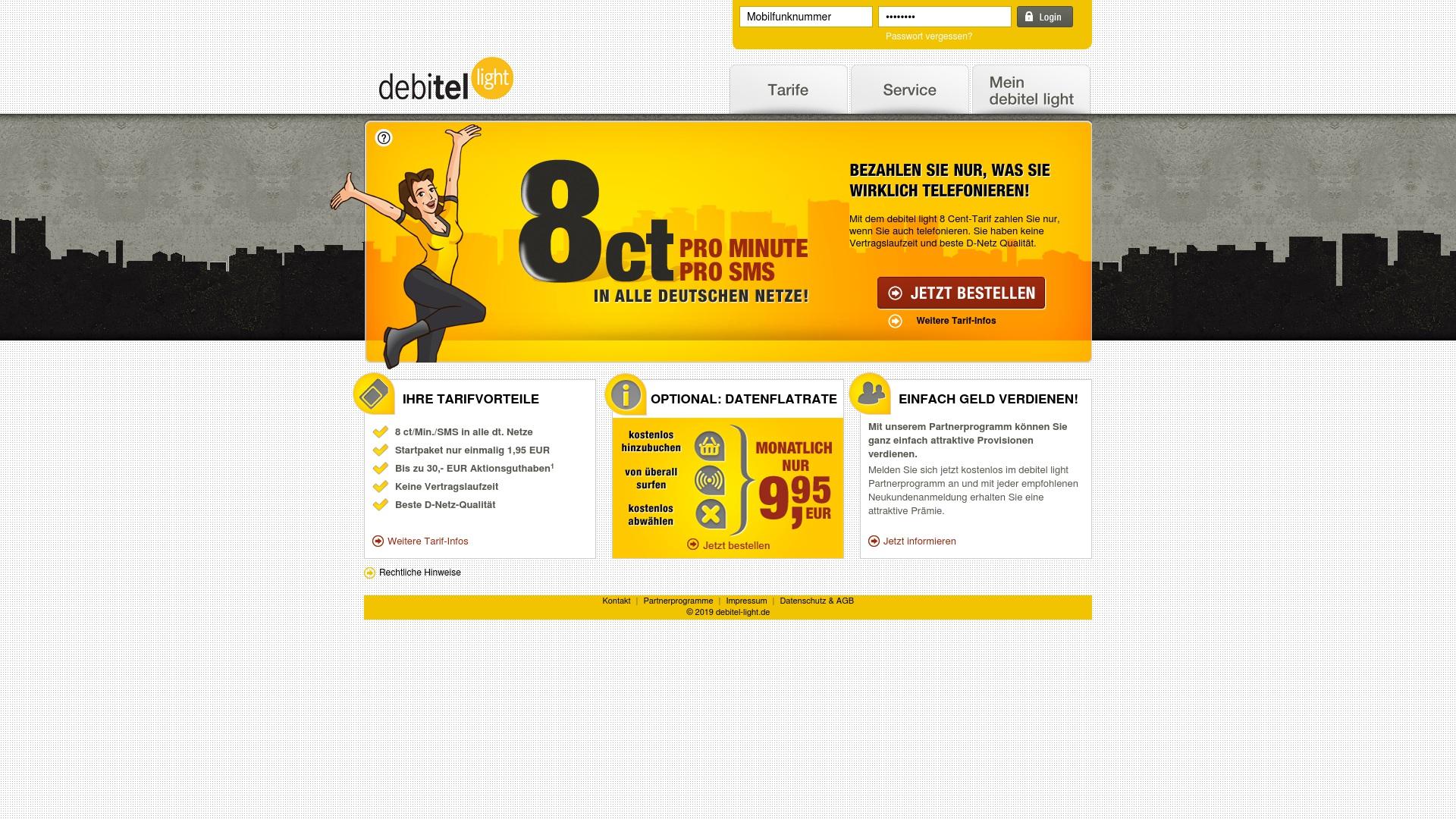 Gutschein für Debitel-light: Rabatte für  Debitel-light sichern