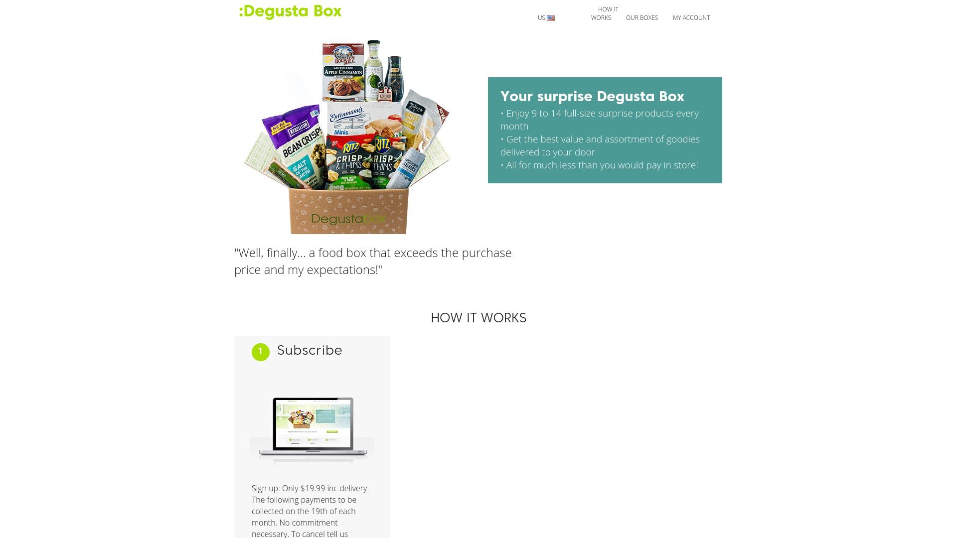 Gutschein für Degustabox: Rabatte für  Degustabox sichern