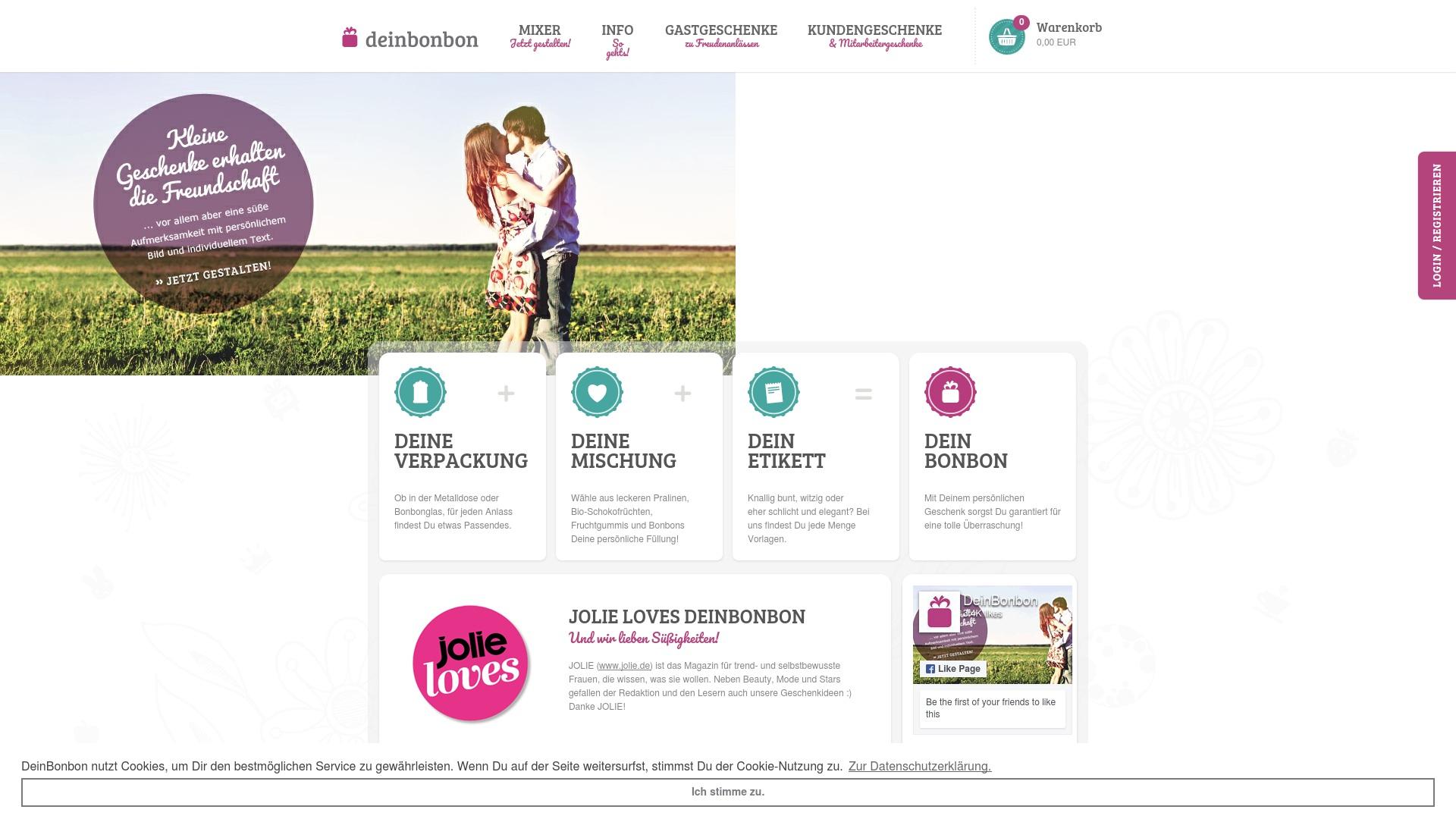 Gutschein für Deinbonbon: Rabatte für  Deinbonbon sichern