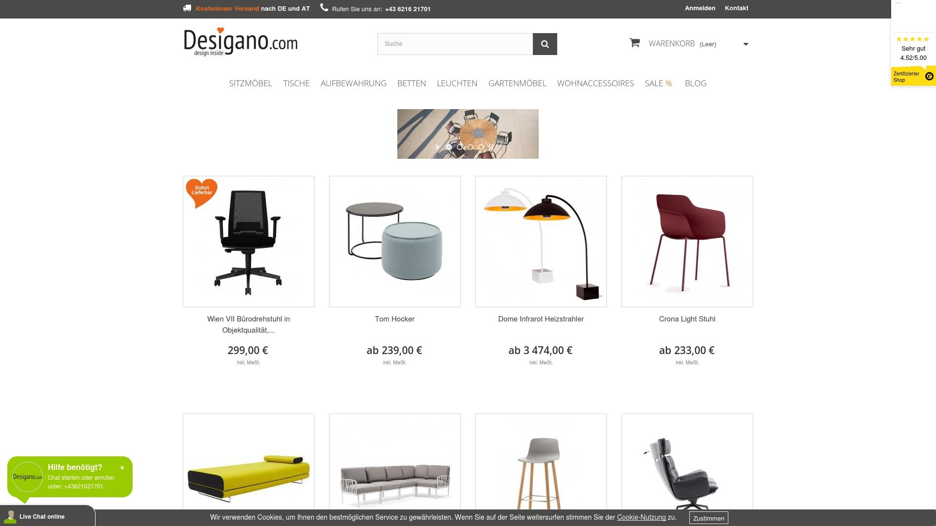 Gutschein für Desigano: Rabatte für  Desigano sichern