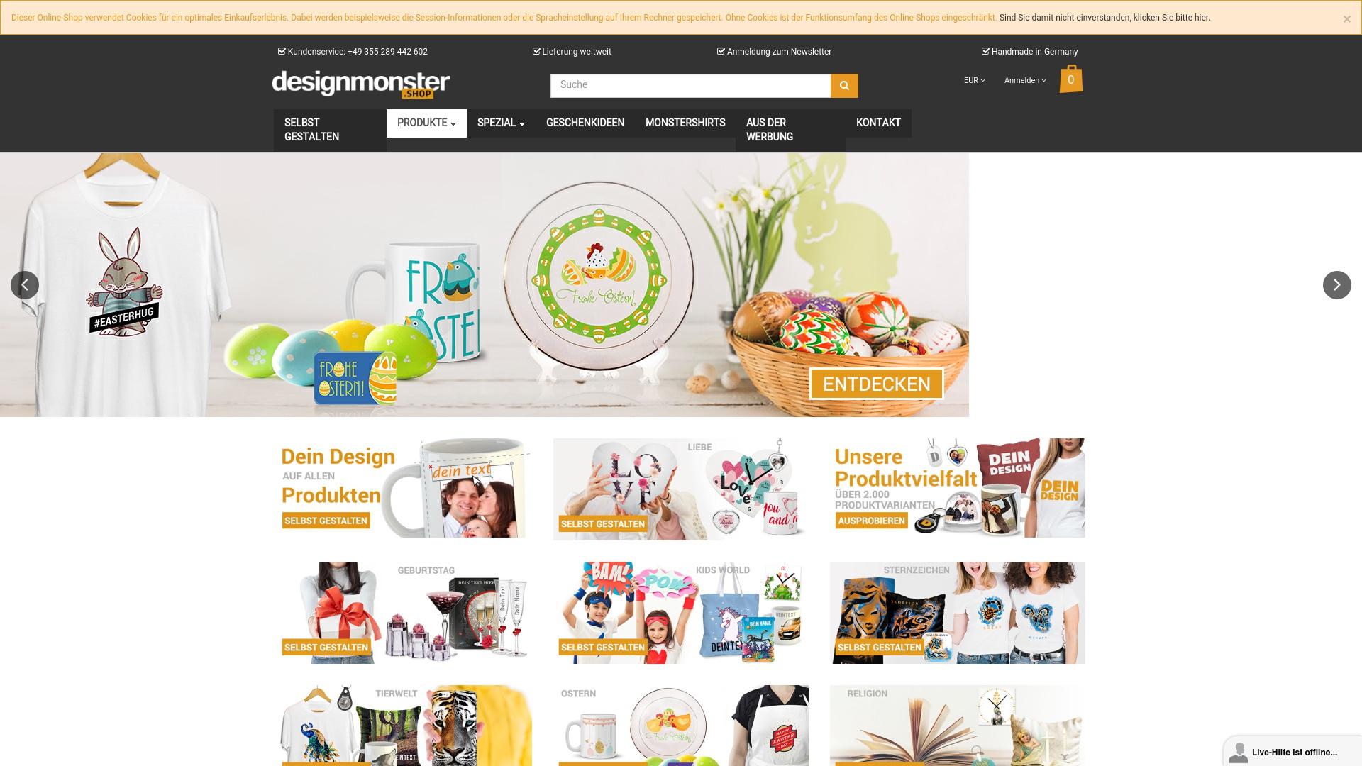 Gutschein für Designmonster: Rabatte für  Designmonster sichern