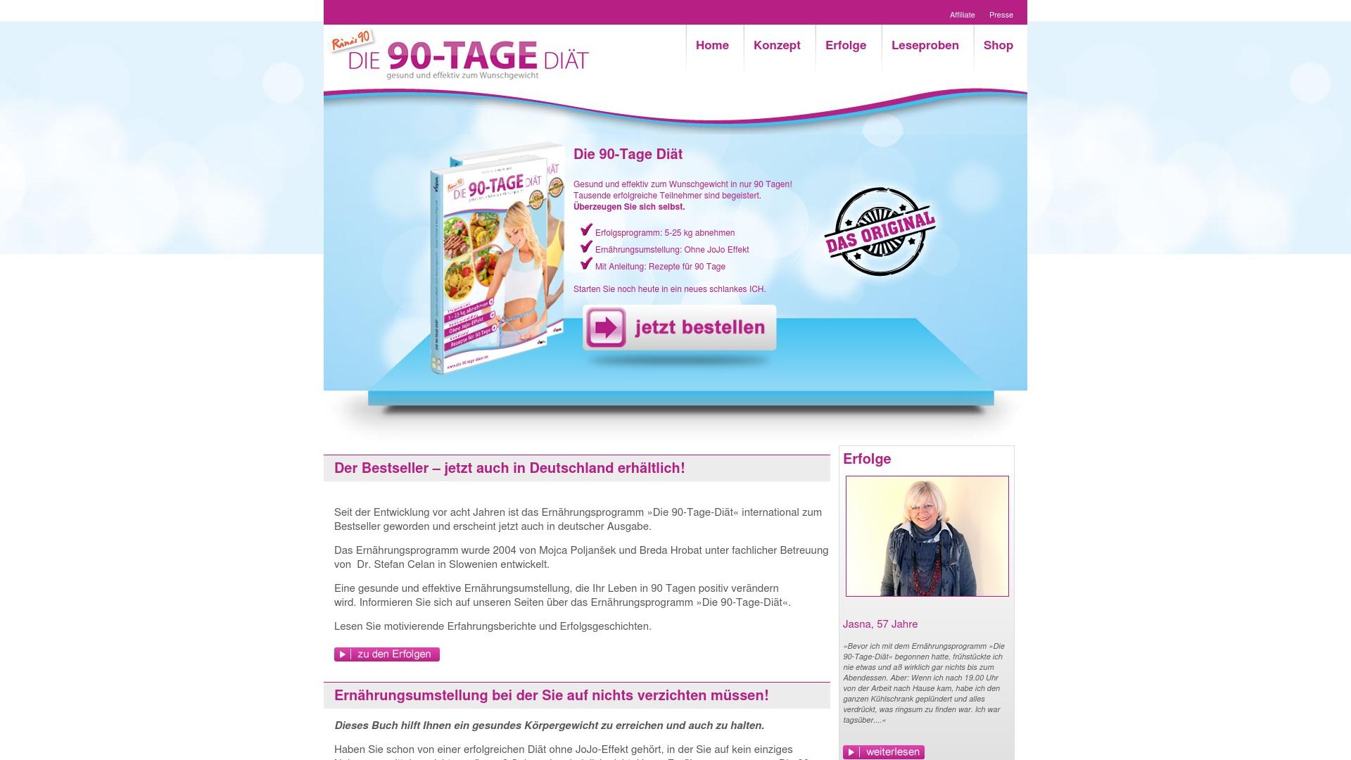 Gutschein für Die-90-tage-diaet: Rabatte für  Die-90-tage-diaet sichern