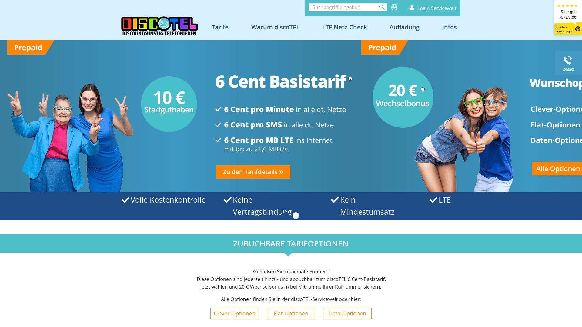 Gutschein für Discotel: Rabatte für  Discotel sichern