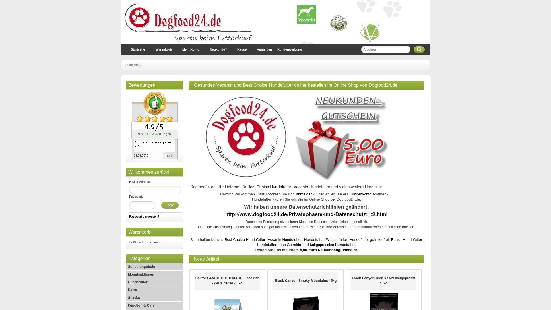 Gutschein für Dogfood24: Rabatte für  Dogfood24 sichern