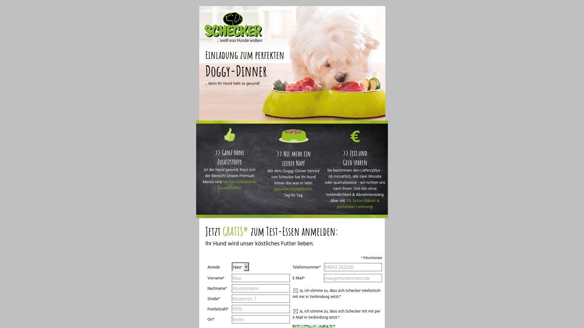 Gutschein für Doggy-dinner: Rabatte für  Doggy-dinner sichern