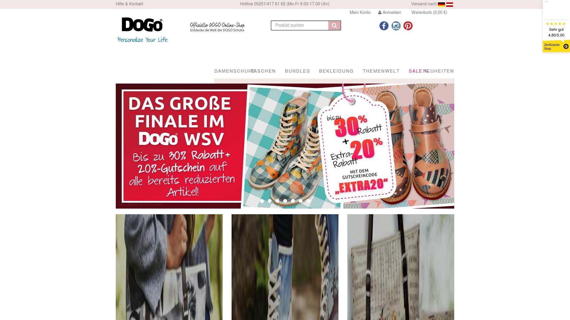 Gutschein für Dogo-shoes: Rabatte für  Dogo-shoes sichern