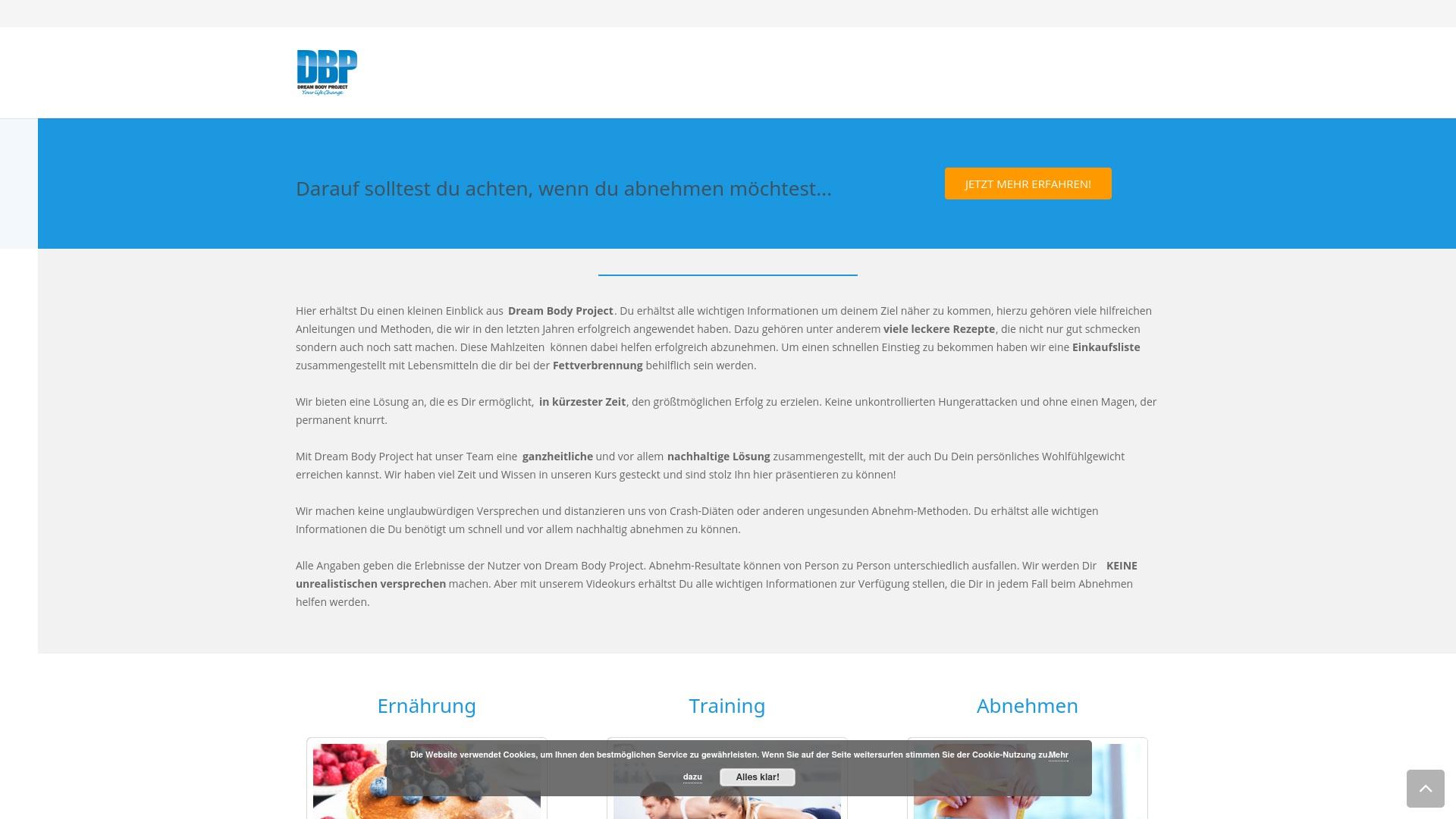 Gutschein für Dreambodyproject: Rabatte für  Dreambodyproject sichern