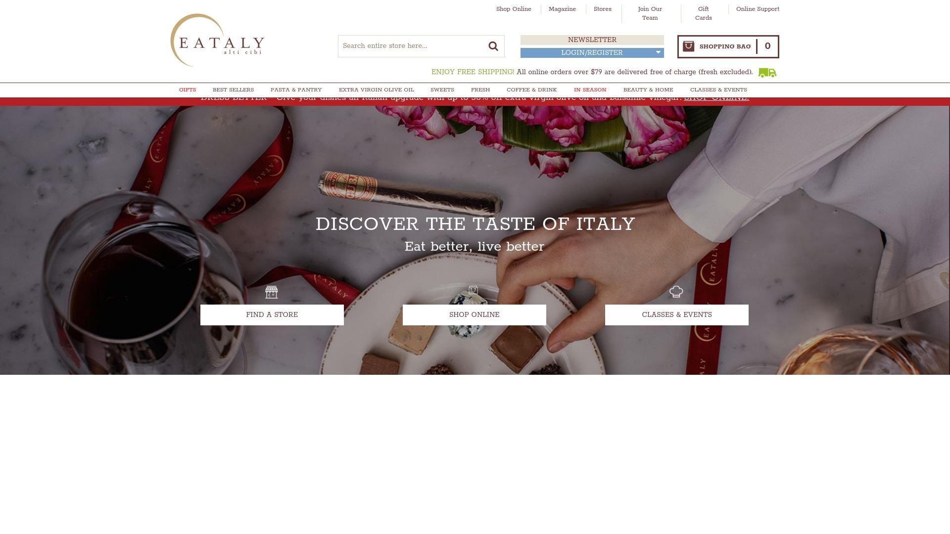 Gutschein für Eataly: Rabatte für  Eataly sichern