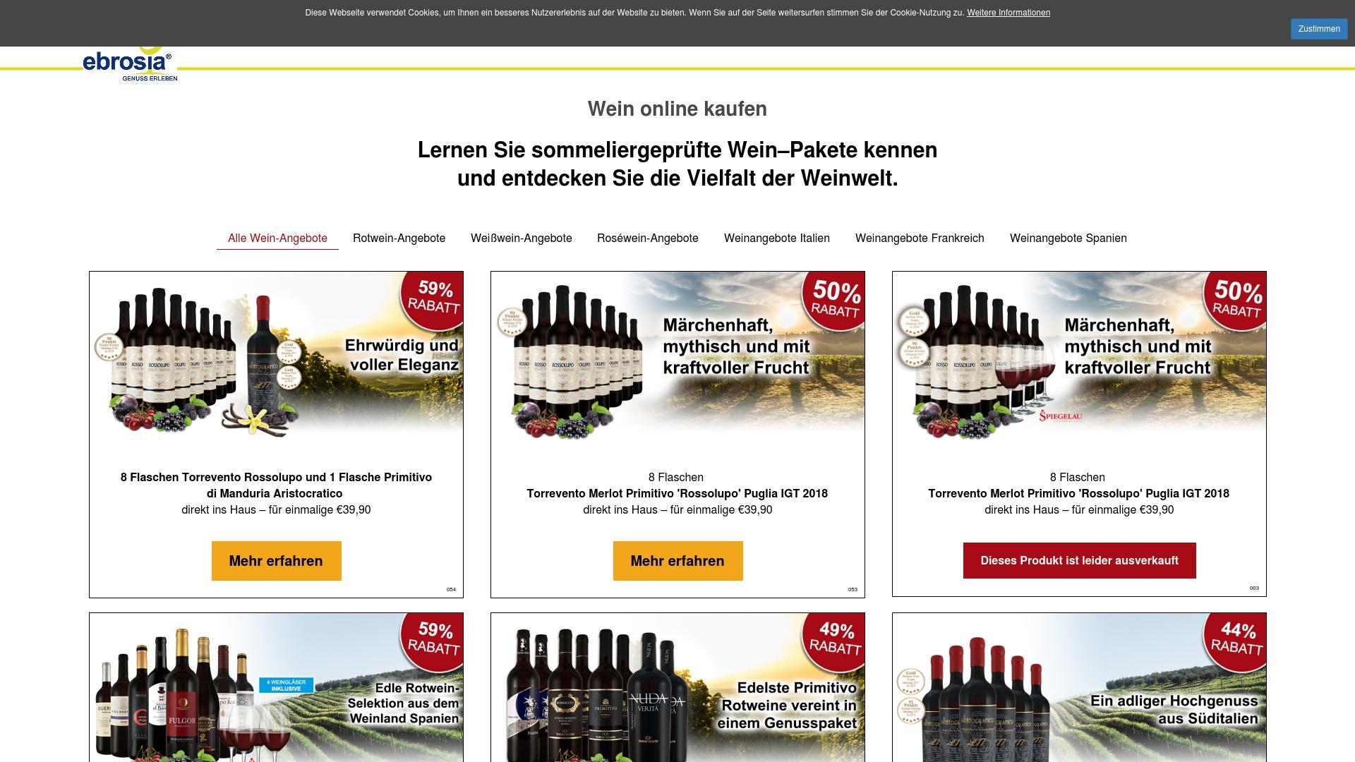 Gutschein für Ebrosia-produkte: Rabatte für  Ebrosia-produkte sichern