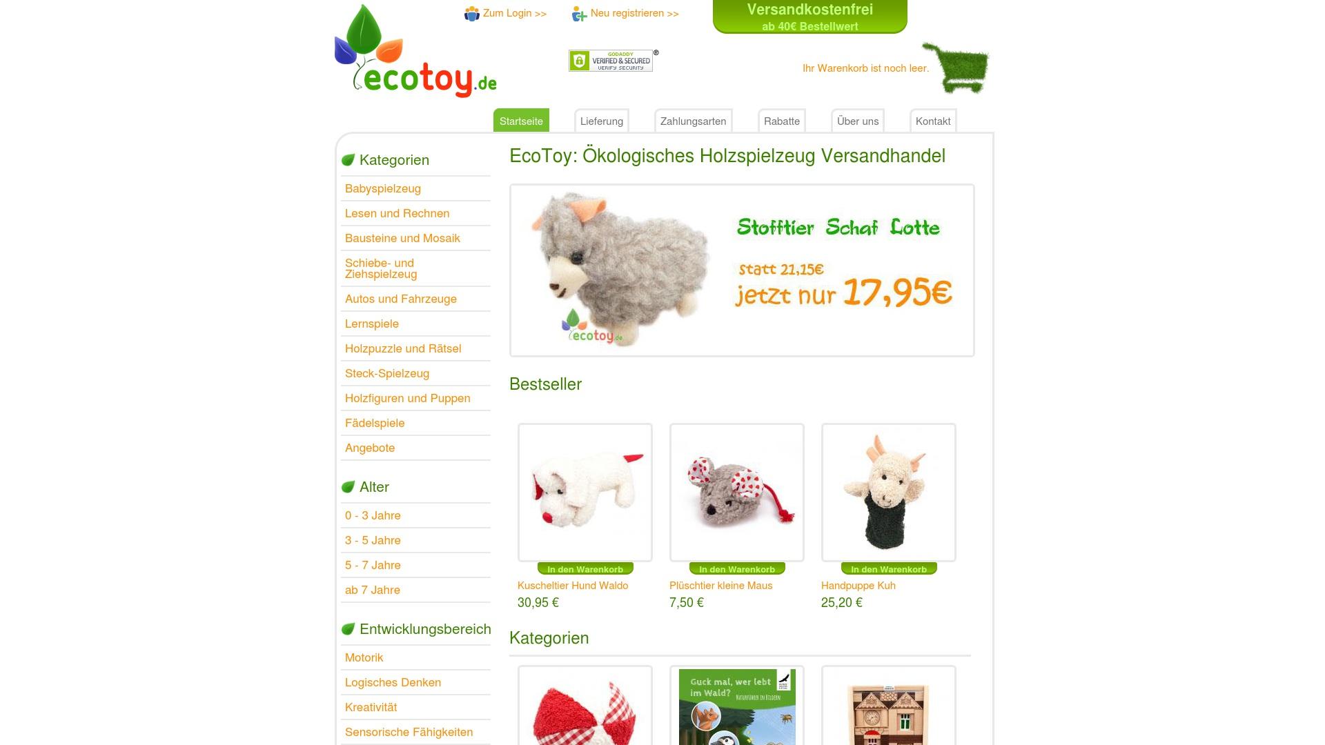Gutschein für Ecotoy: Rabatte für  Ecotoy sichern