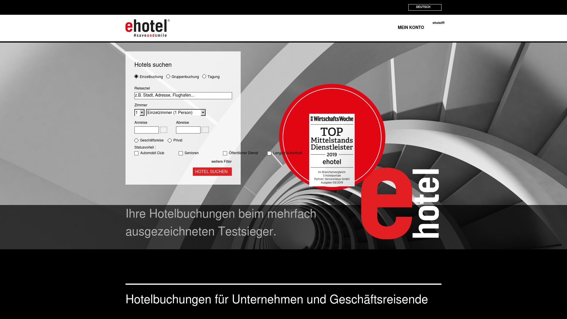 Gutschein für Ehotel: Rabatte für  Ehotel sichern