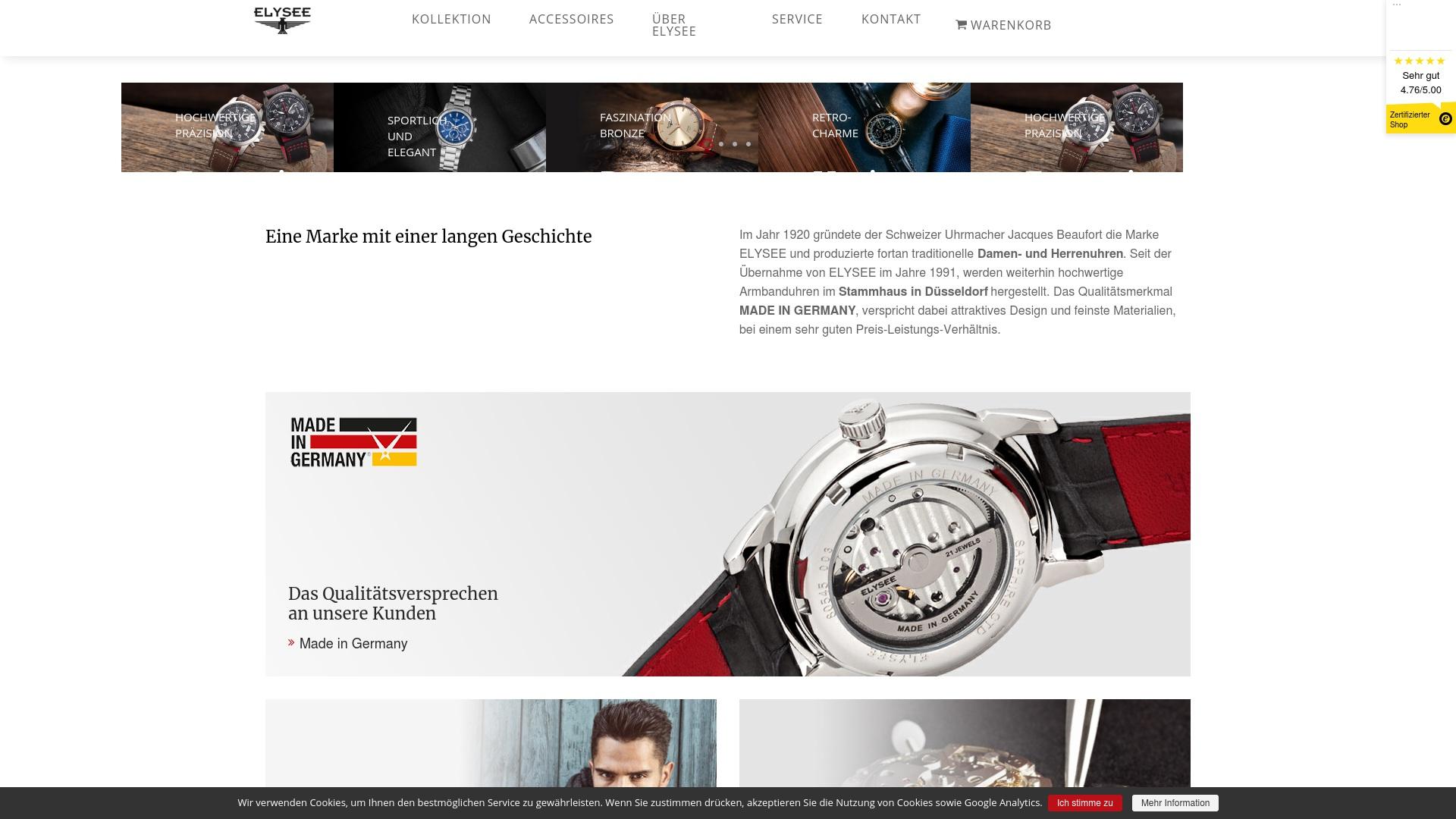 Gutschein für Elysee-watches: Rabatte für  Elysee-watches sichern