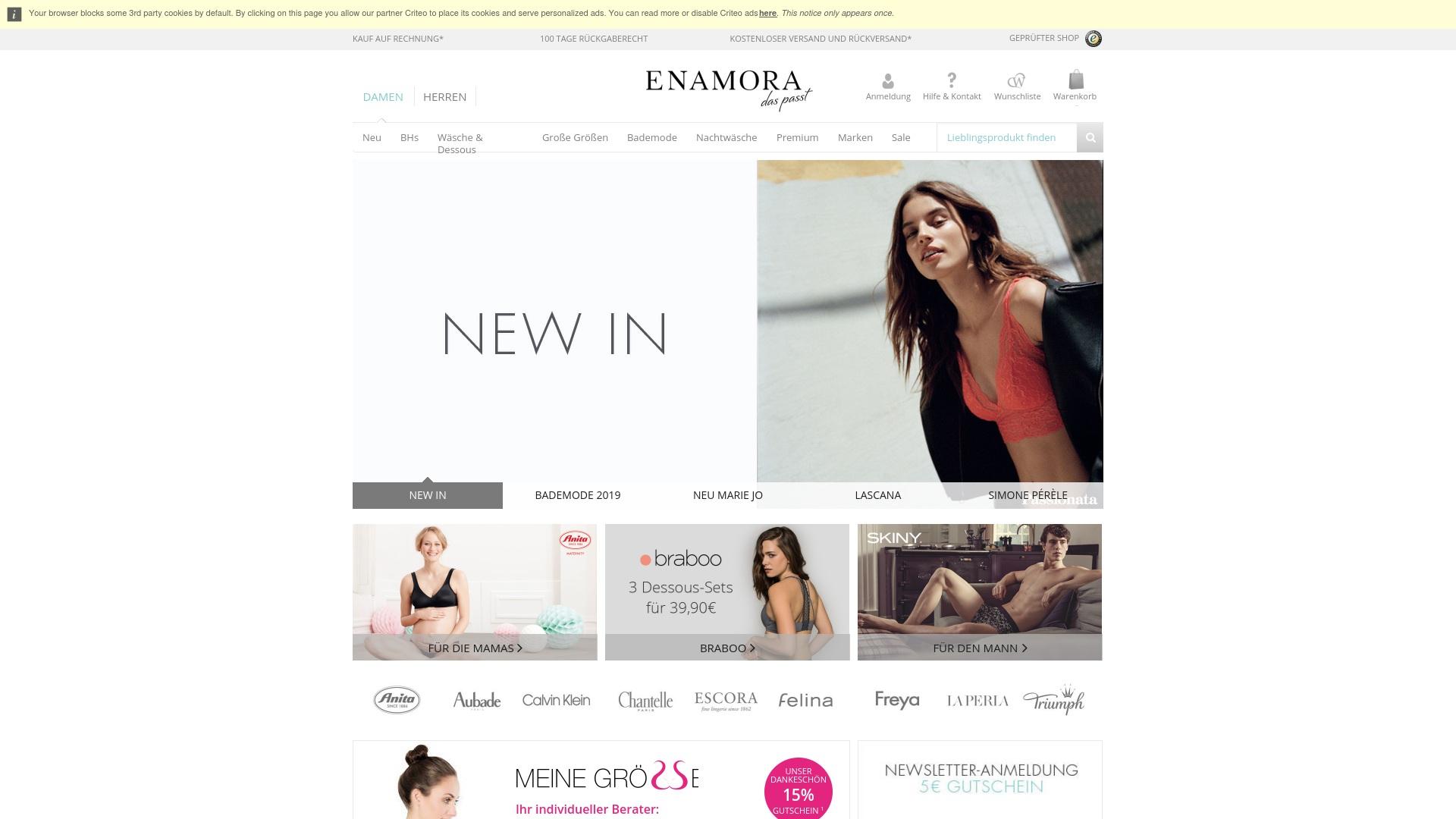 Gutschein für Enamora: Rabatte für  Enamora sichern