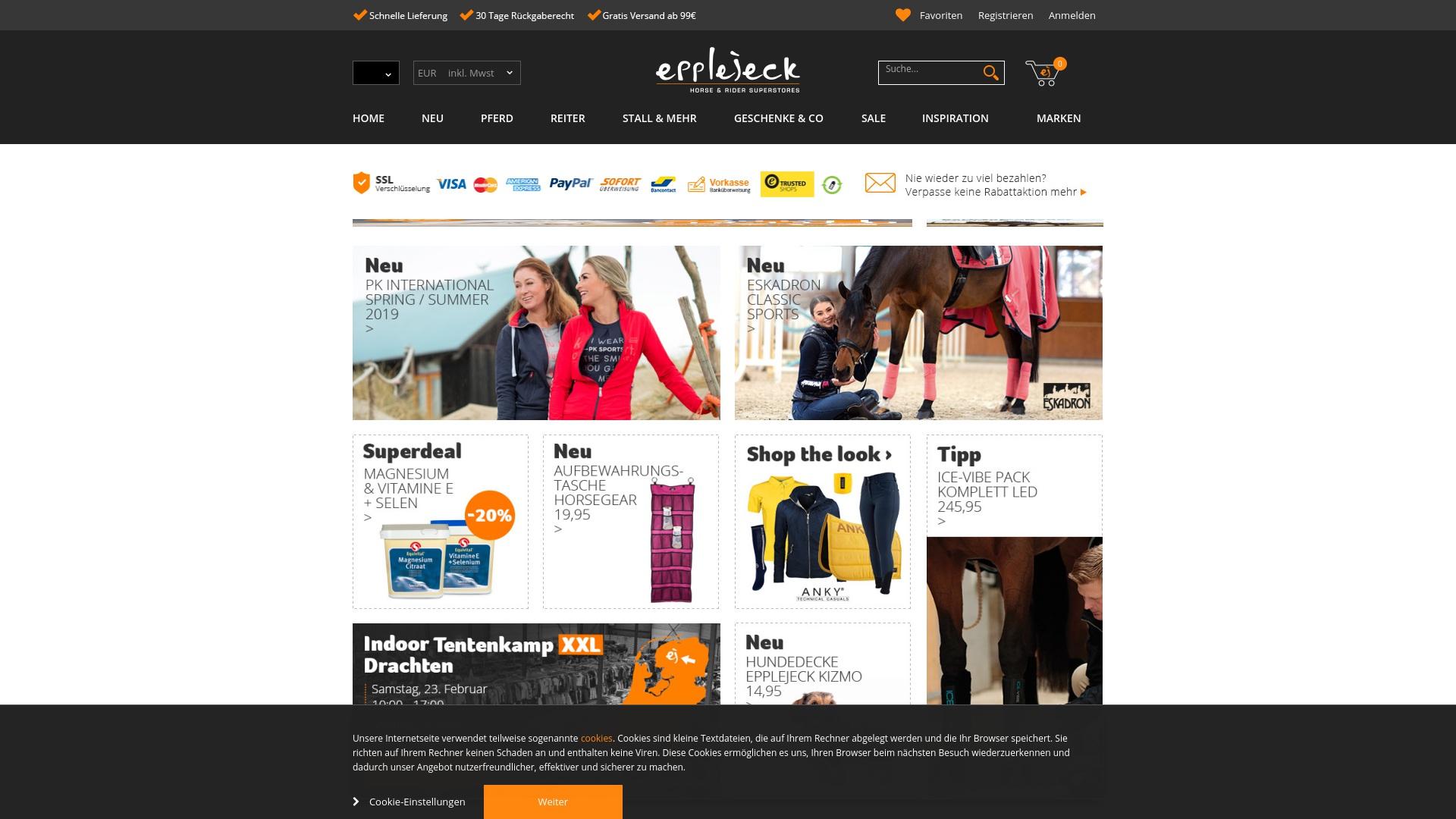 Gutschein für Epplejeck-reitsport: Rabatte für  Epplejeck-reitsport sichern