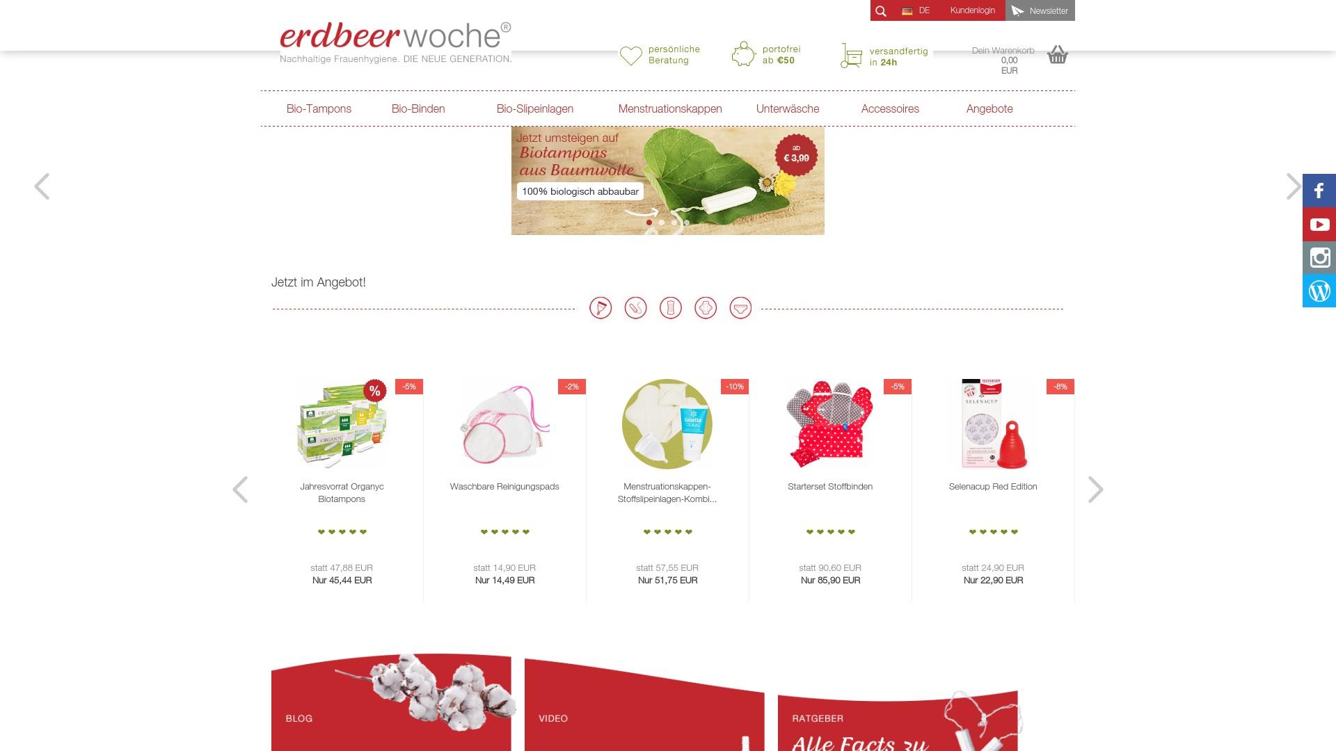 Gutschein für Erdbeerwoche-shop: Rabatte für  Erdbeerwoche-shop sichern