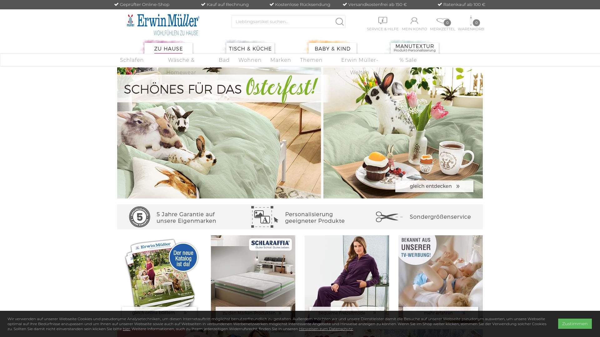 Gutschein für Erwinmueller: Rabatte für  Erwinmueller sichern