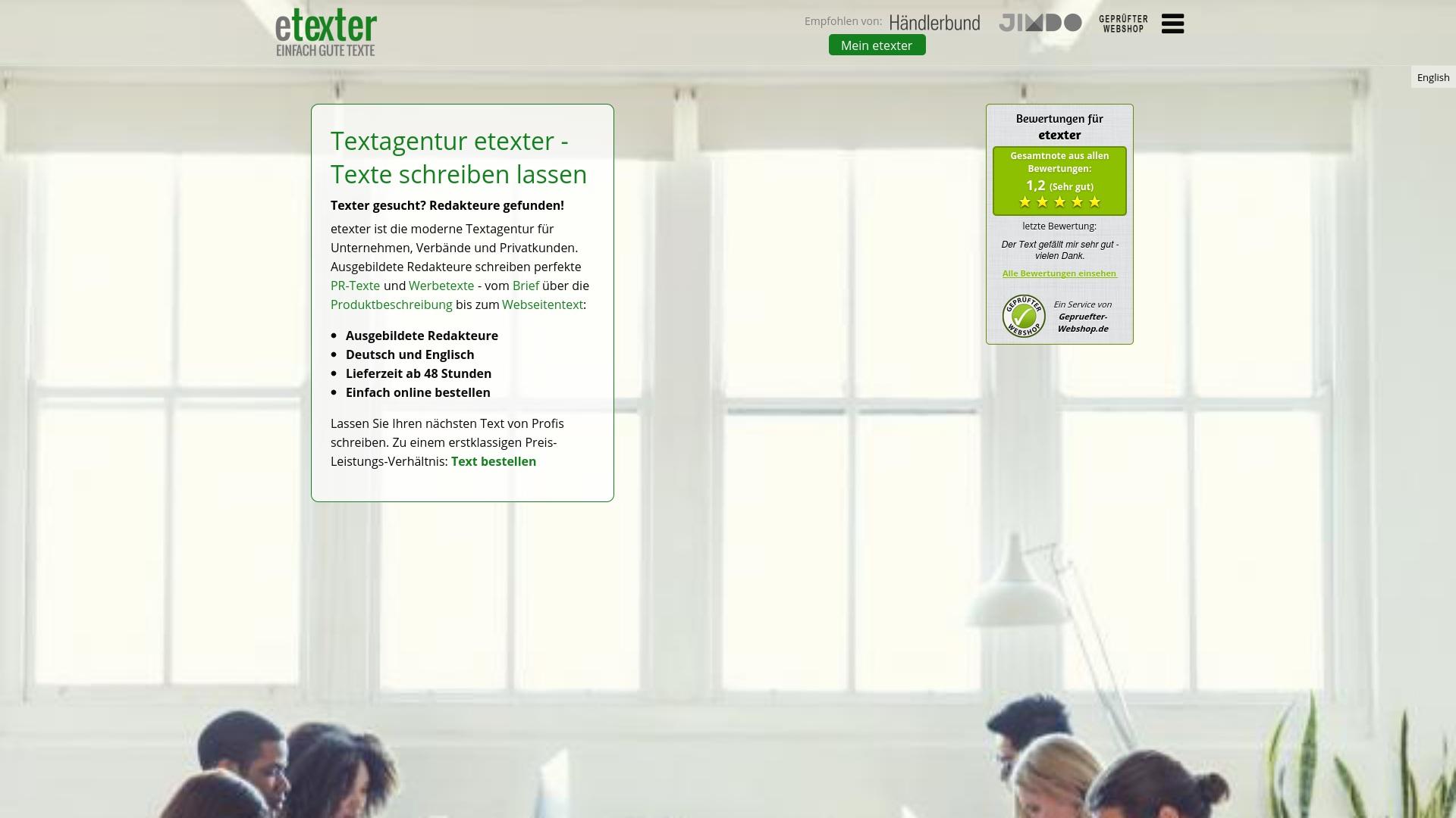 Gutschein für Etexter: Rabatte für  Etexter sichern