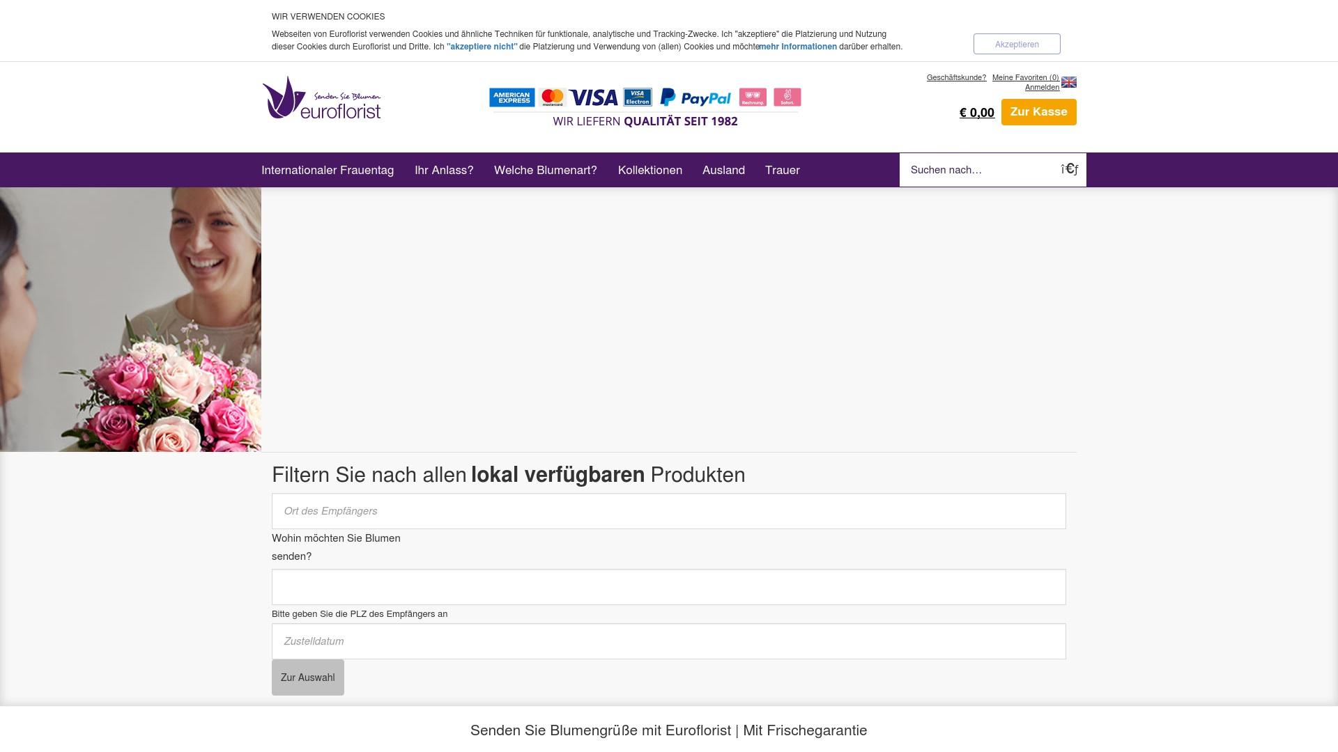 Gutschein für Euroflorist: Rabatte für  Euroflorist sichern