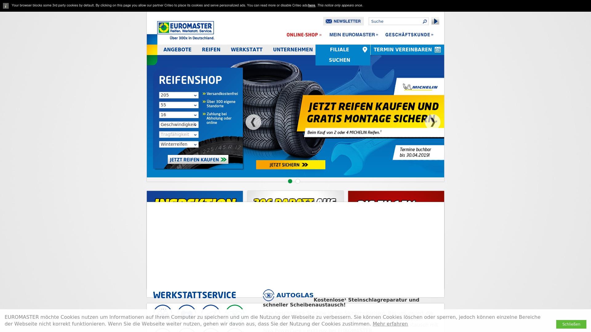 Gutschein für Euromaster: Rabatte für  Euromaster sichern