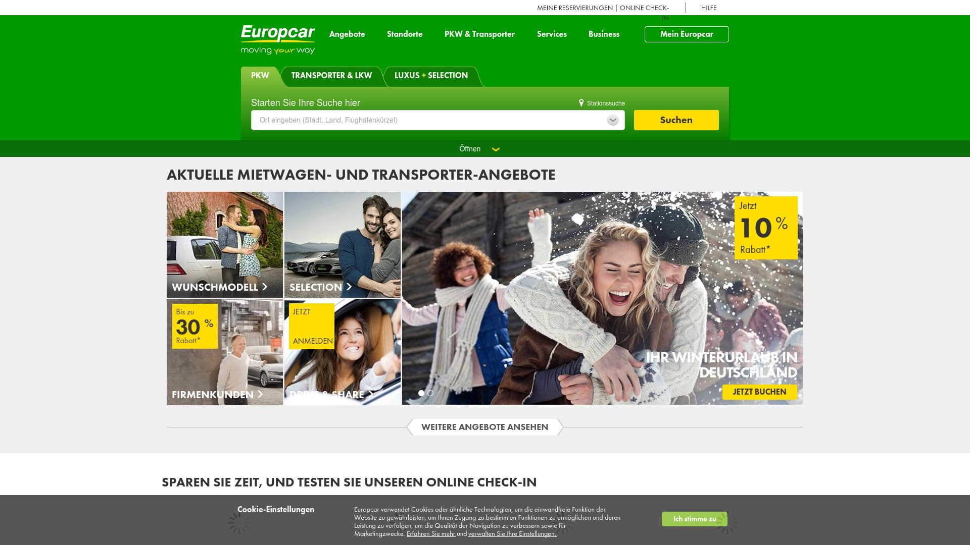 Gutschein für Europcar: Rabatte für  Europcar sichern