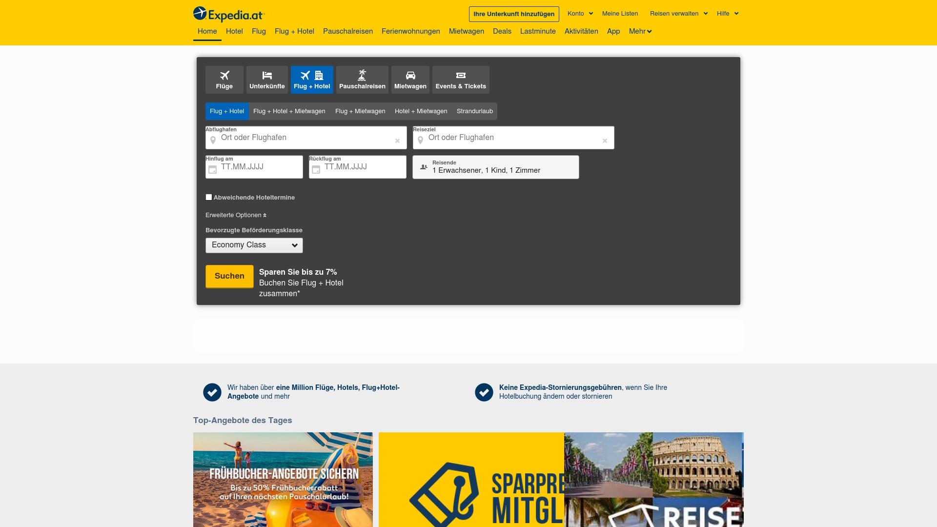 Gutschein für Expedia: Rabatte für  Expedia sichern