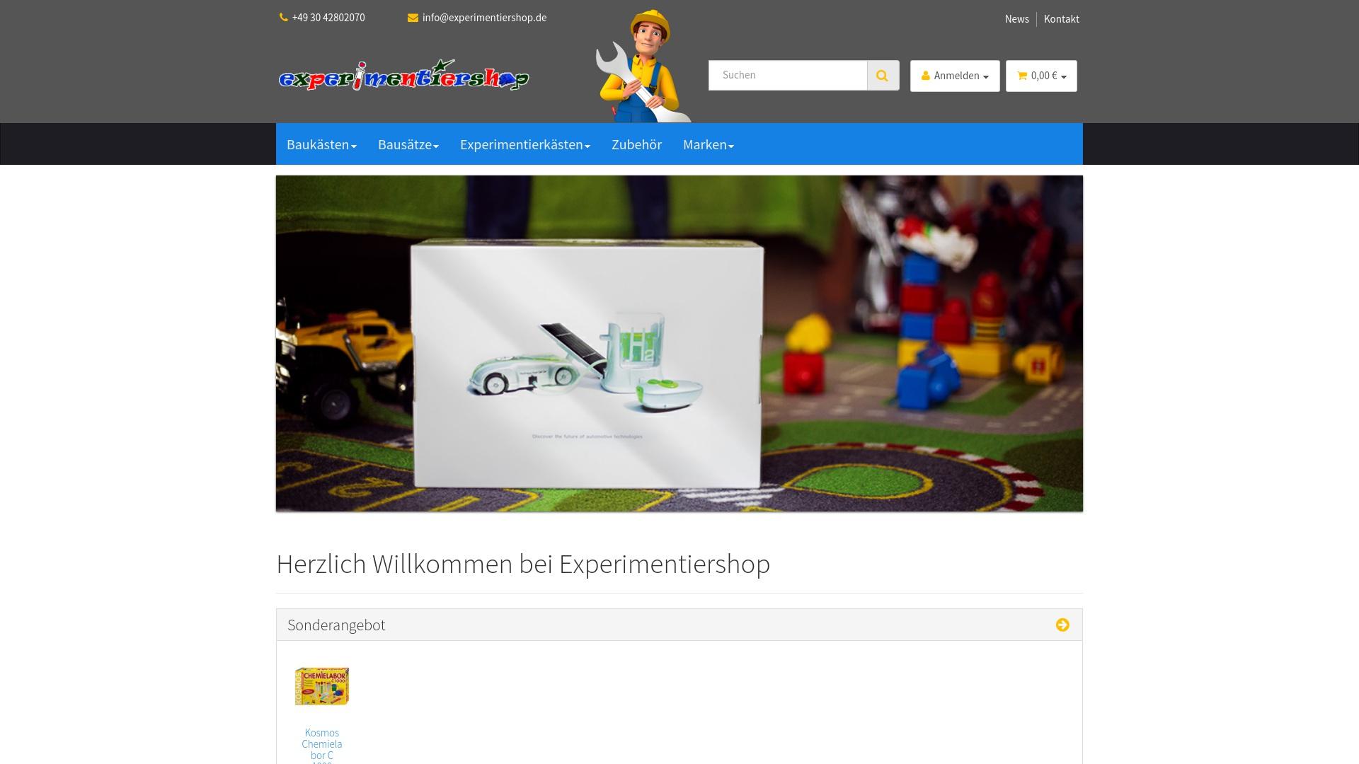 Gutschein für Experimentiershop: Rabatte für  Experimentiershop sichern