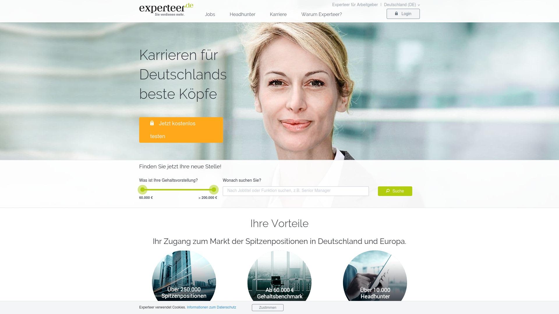 Gutschein für Experteer: Rabatte für  Experteer sichern