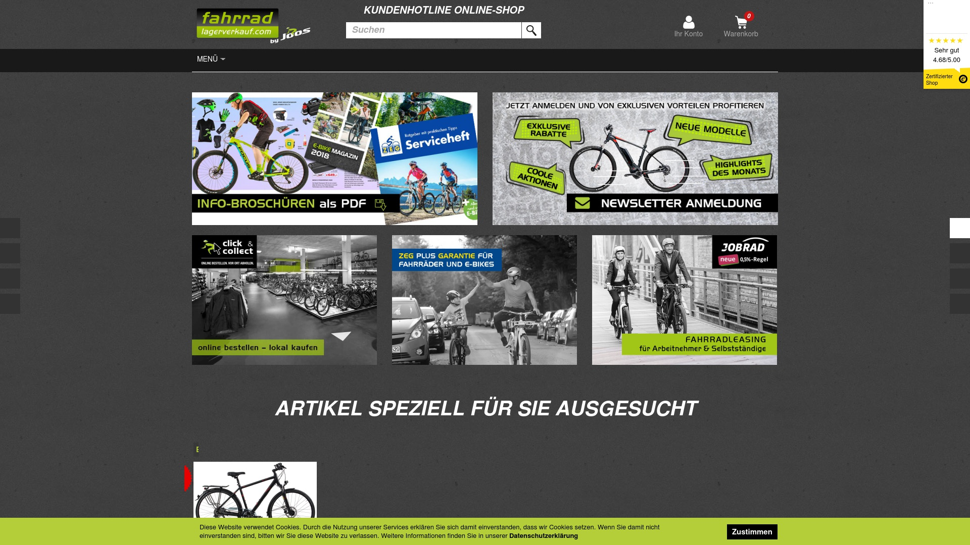 Gutschein für Fahrradlagerverkauf: Rabatte für  Fahrradlagerverkauf sichern