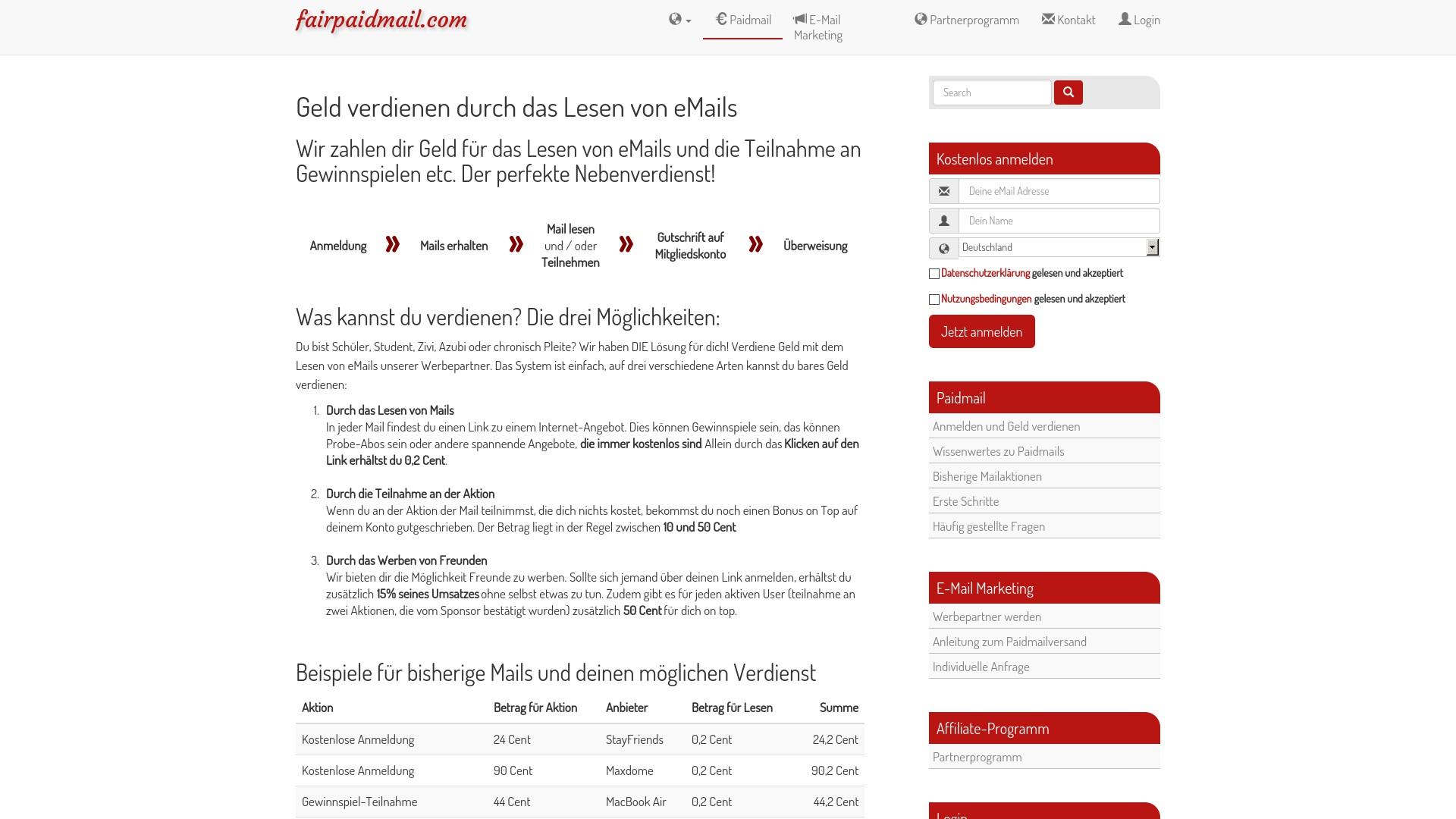 Gutschein für Fairpaidmail: Rabatte für  Fairpaidmail sichern