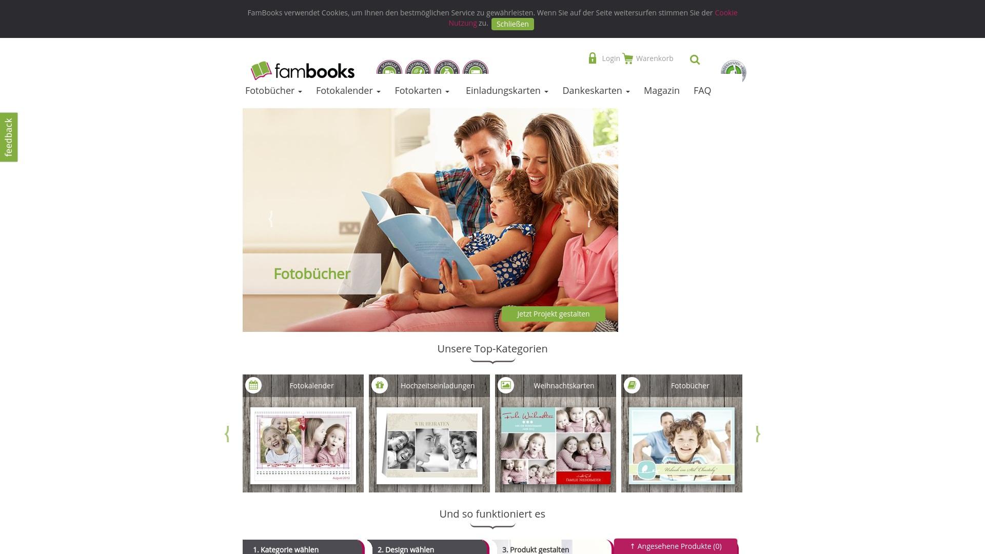 Gutschein für Fambooks: Rabatte für  Fambooks sichern