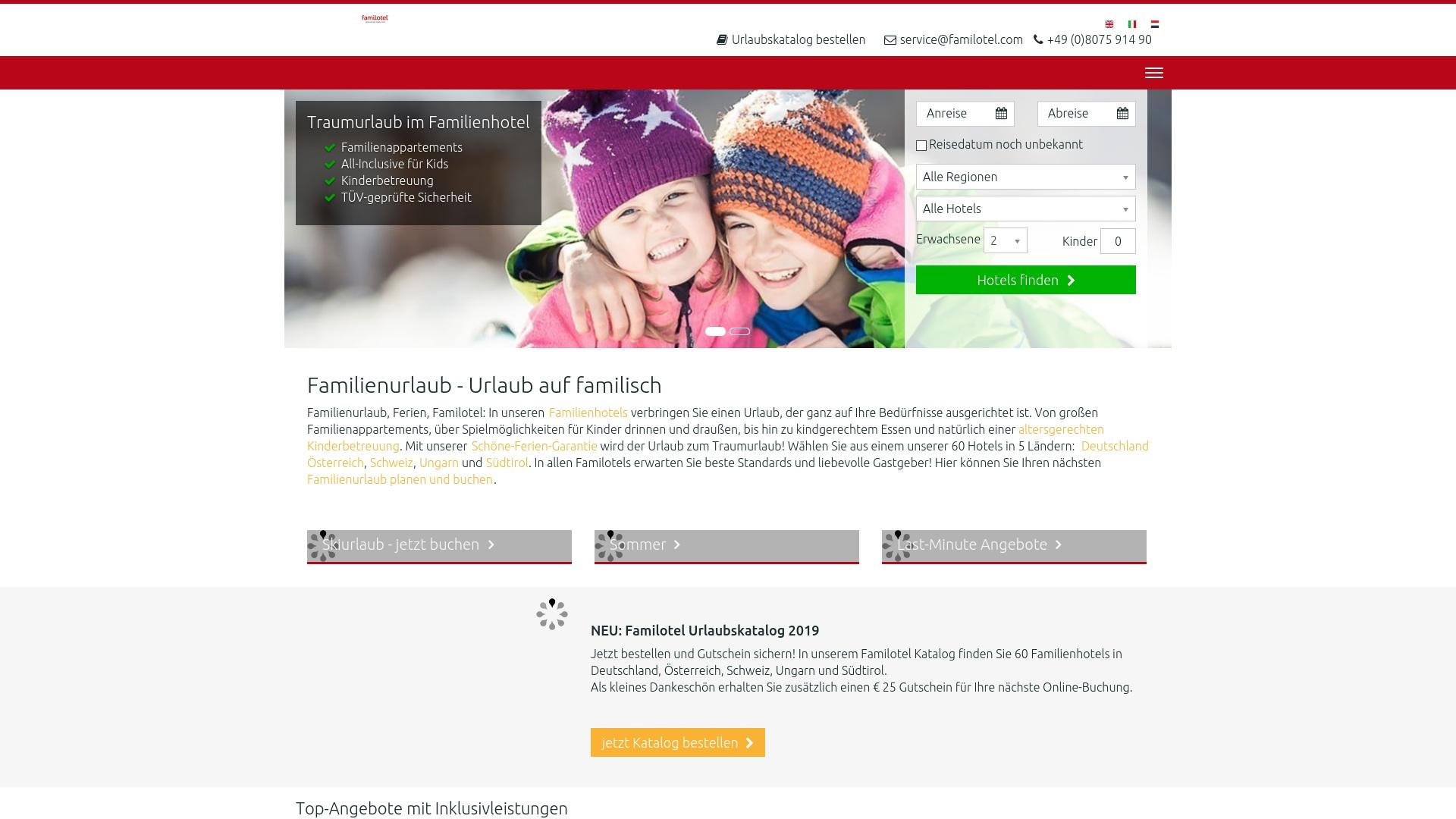 Gutschein für Familotel: Rabatte für  Familotel sichern