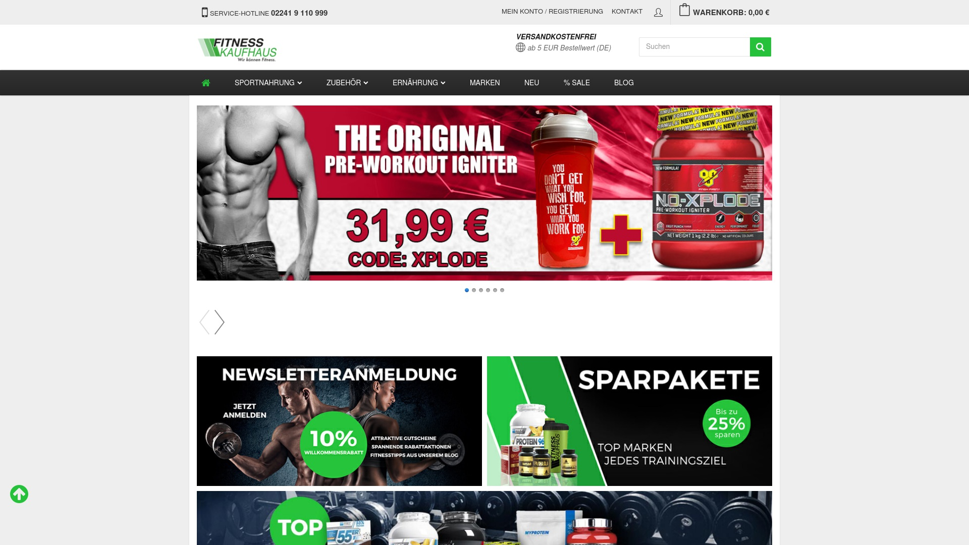Gutschein für Fitnesskaufhaus: Rabatte für  Fitnesskaufhaus sichern