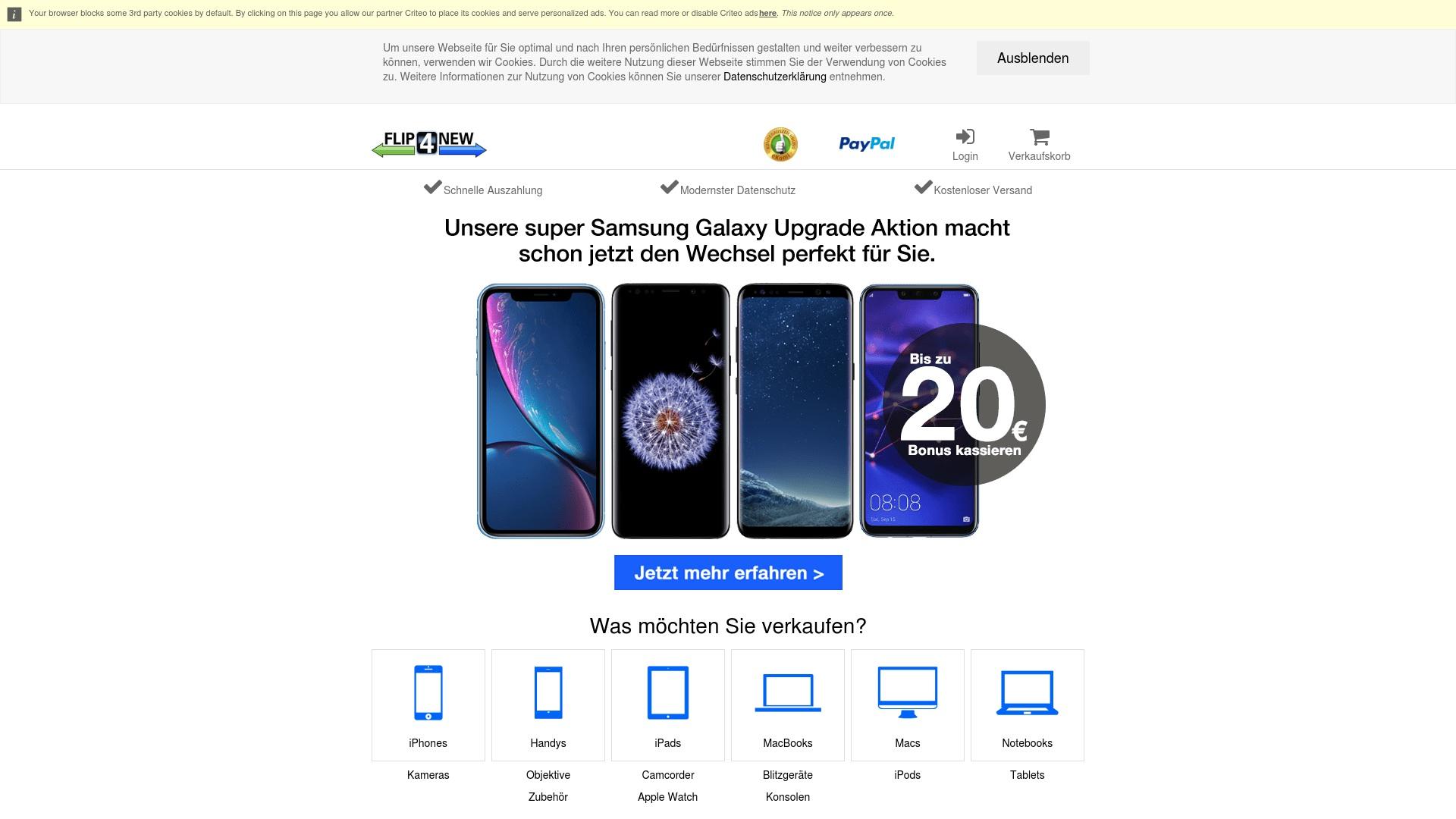 Gutschein für Flip4new: Rabatte für  Flip4new sichern