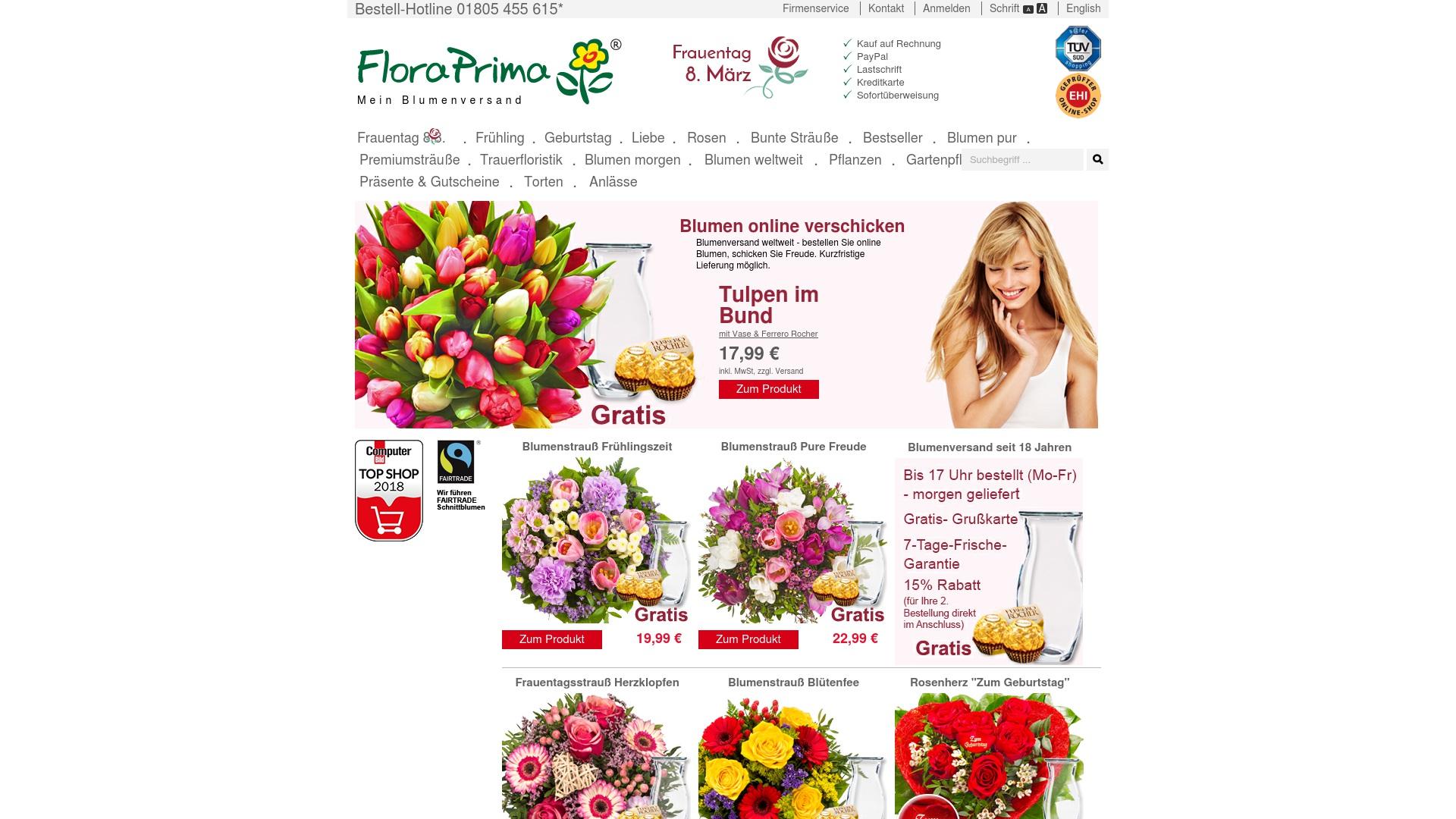 Gutschein für Floraprima: Rabatte für  Floraprima sichern